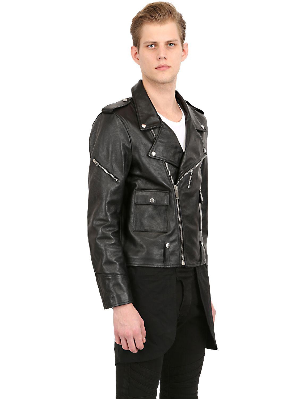 Lyst Golden Goose Deluxe Brand Leather Moto Jacket In