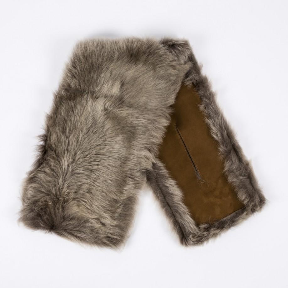 paul smith s mainline sheepskin scarf in gray