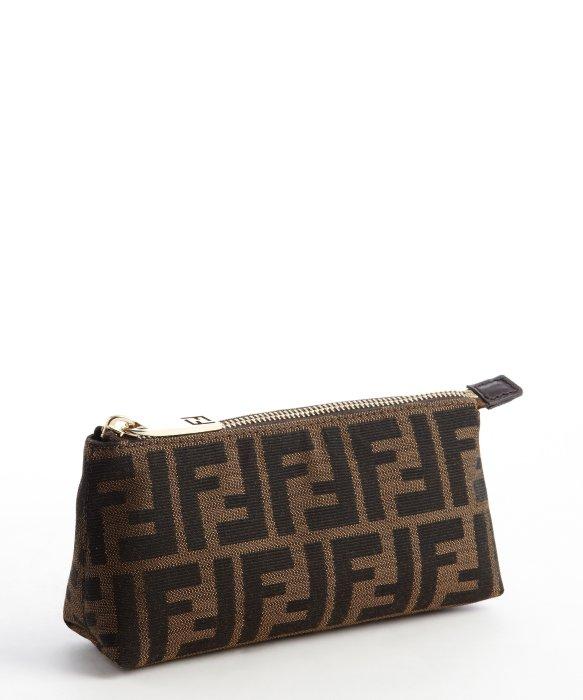 4fea7c0b47 norway lyst fendi tobacco zucca canvas mini cosmetic bag in brown a65a0  53954 ...