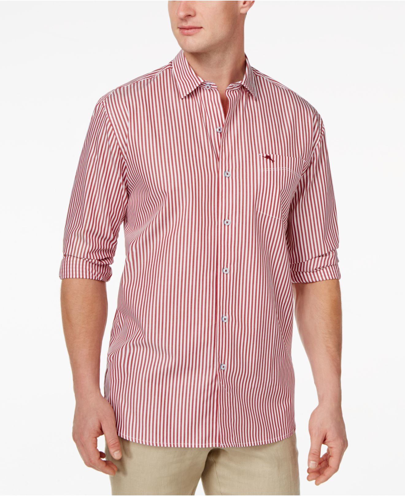 Tommy bahama paradise island stripe long sleeve shirt in for Tommy bahama long sleeve dress shirts