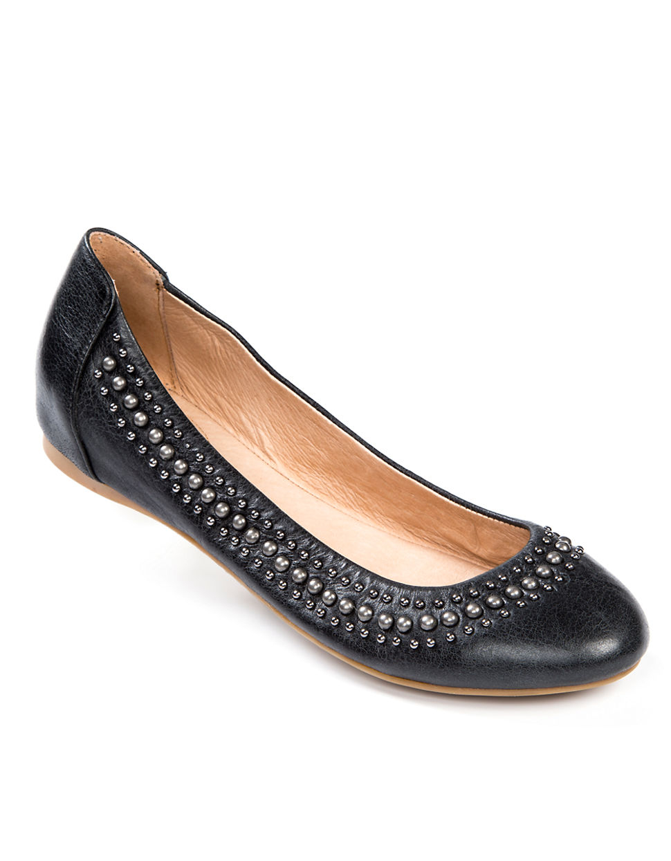 Me Too Adam Tucker For Aero Studded Leather Flats in Black ...
