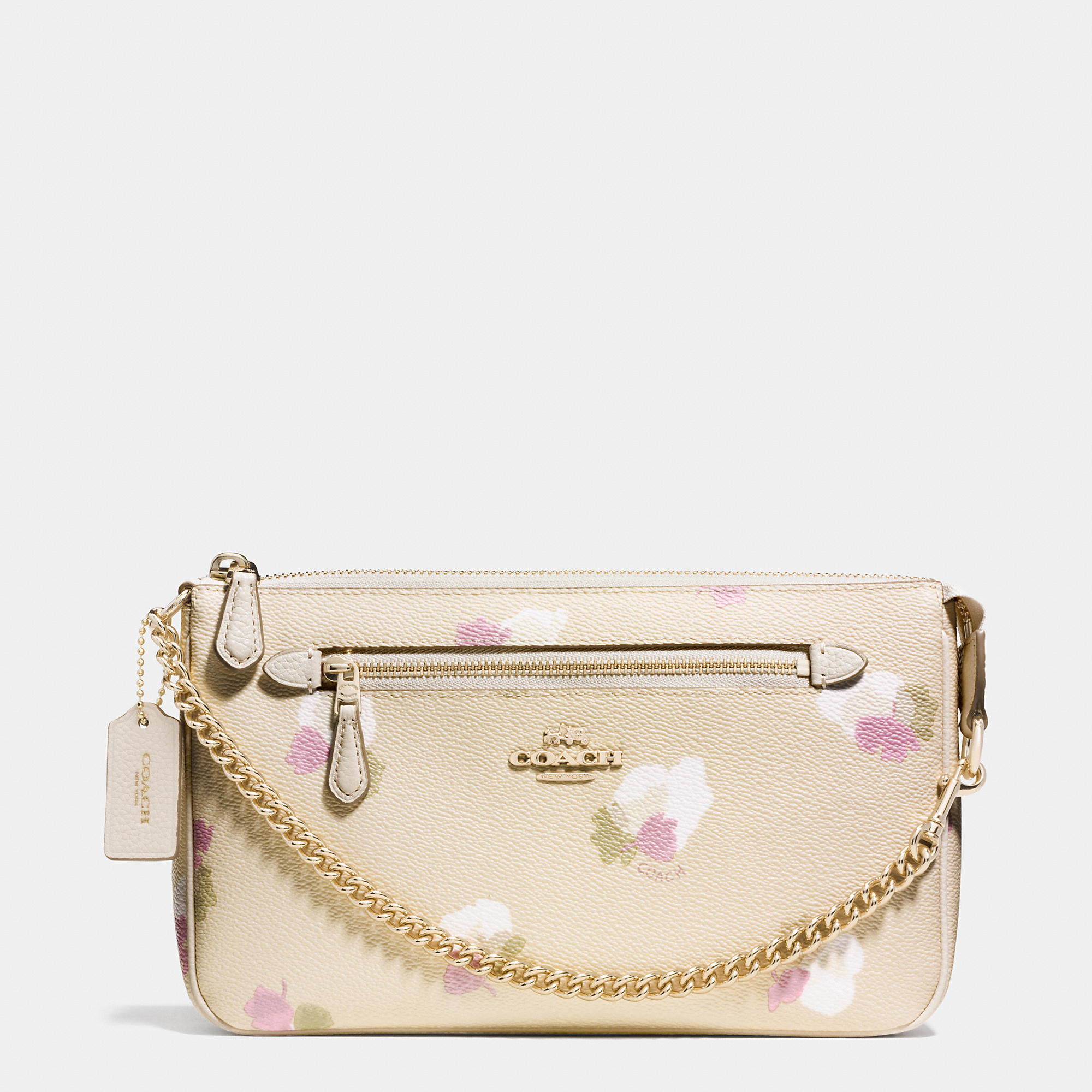 Lyst Coach Nolita Wristlet 24 In Floral Print Coated Canvas In