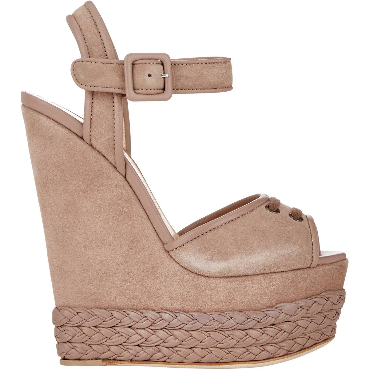 Lyst - Giuseppe Zanotti Braided Platform-wedge Sandals in Brown