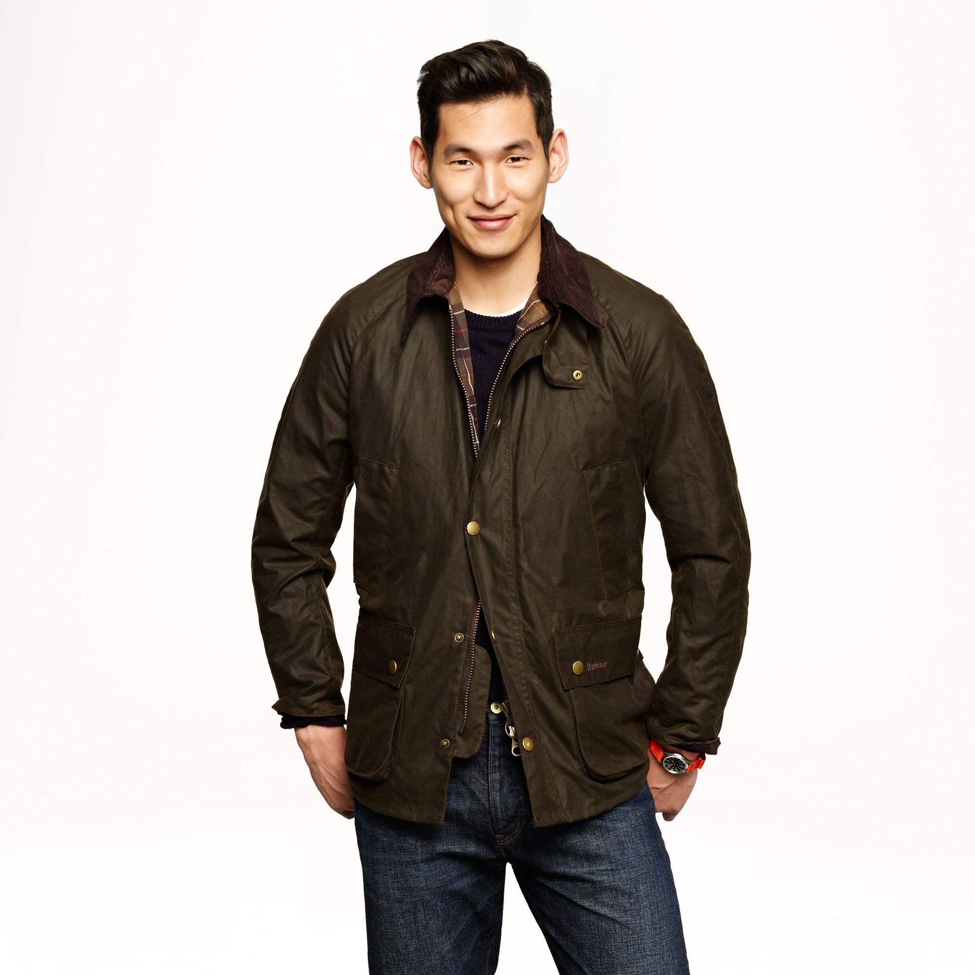 Barbour Jacket : Barbour Sylkoil Ashby Jacket in Green for Men (olive) Lyst