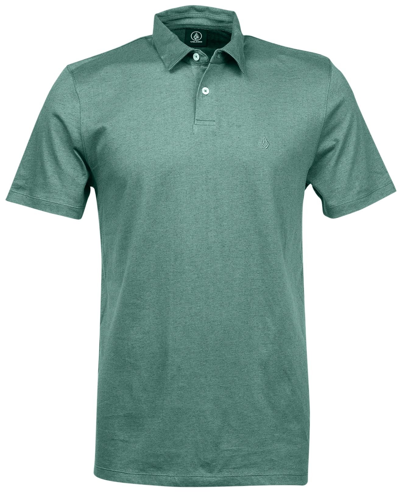 Volcom wowzer polo shirt in green for men forest lyst for Forest green polo shirts