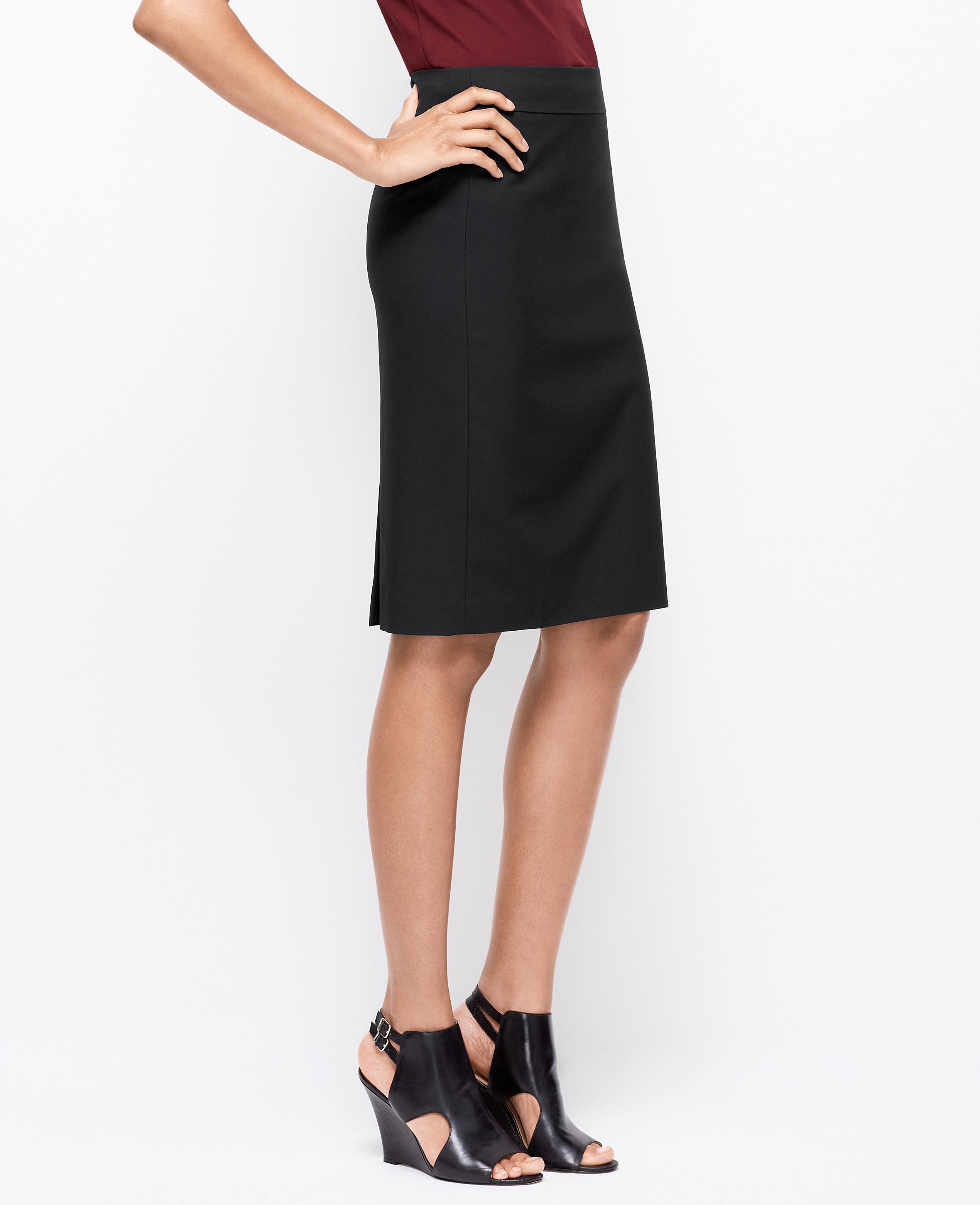 Ann taylor Petite All-season Stretch Pencil Skirt in Black | Lyst