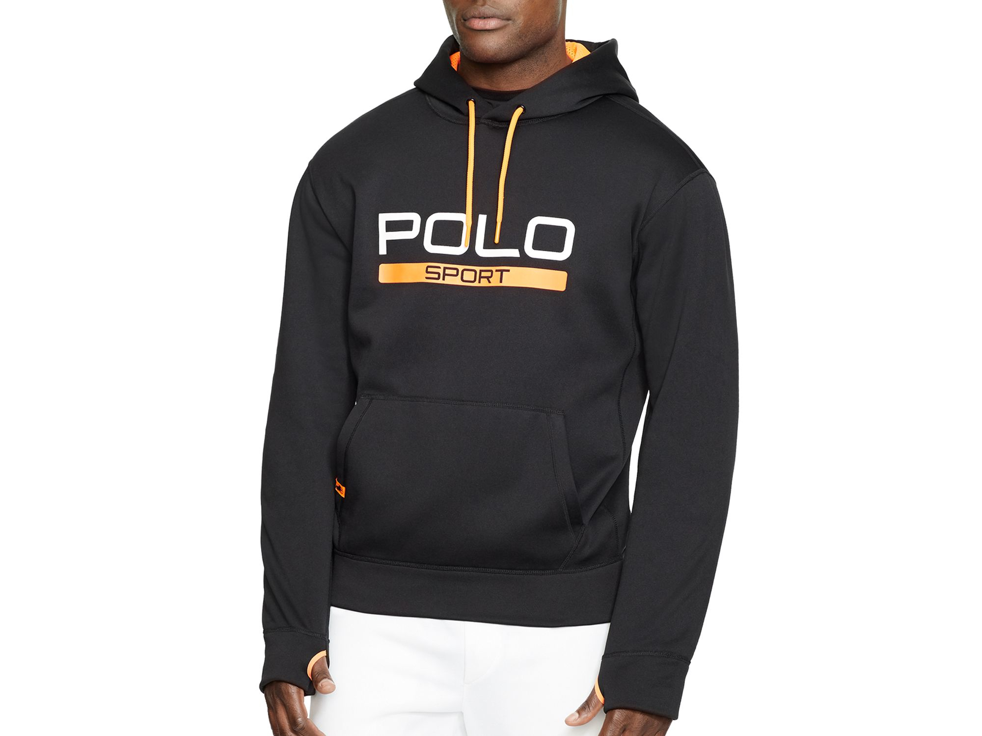 polo ralph lauren polo sport tech fleece hoodie in black. Black Bedroom Furniture Sets. Home Design Ideas