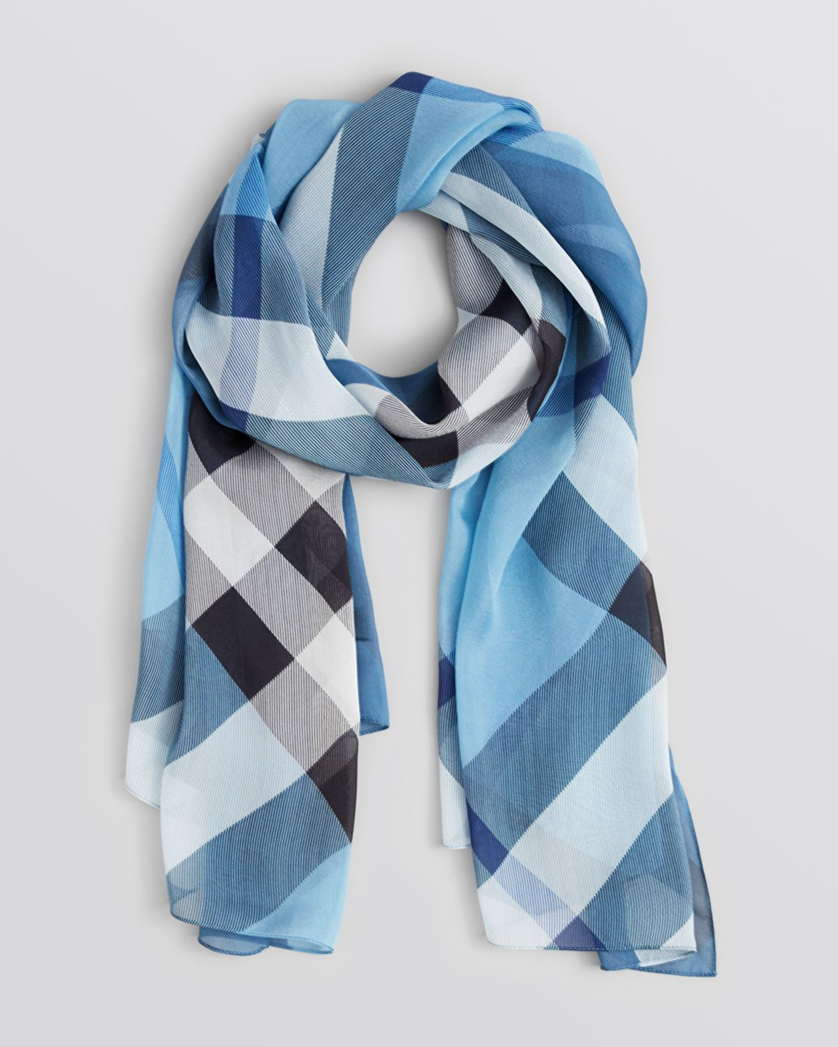 burberry silk scarf outlet k5pu  burberry scarf blue