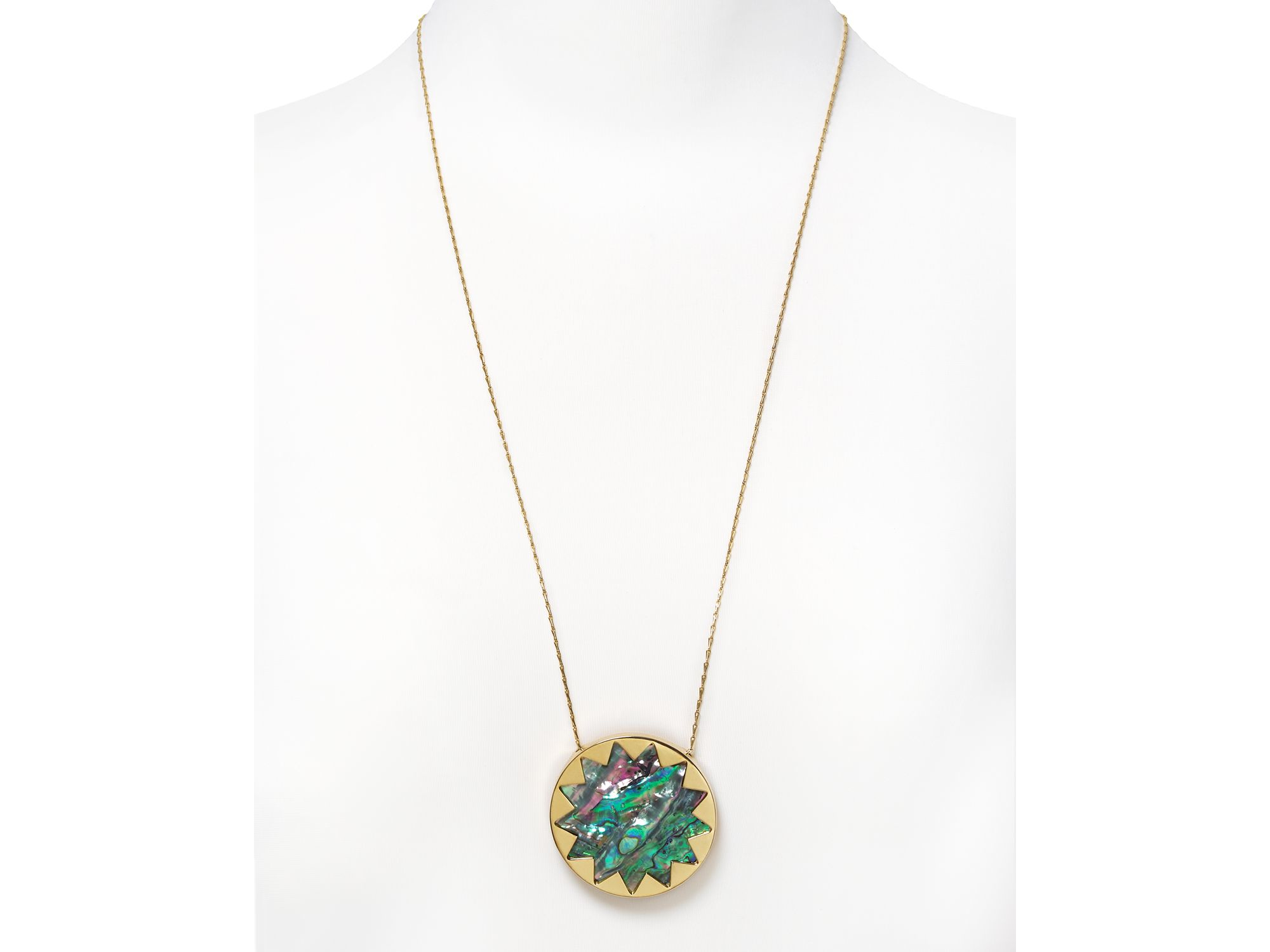 Lyst house of harlow 1960 abalone sunburst necklace gallery mozeypictures Choice Image