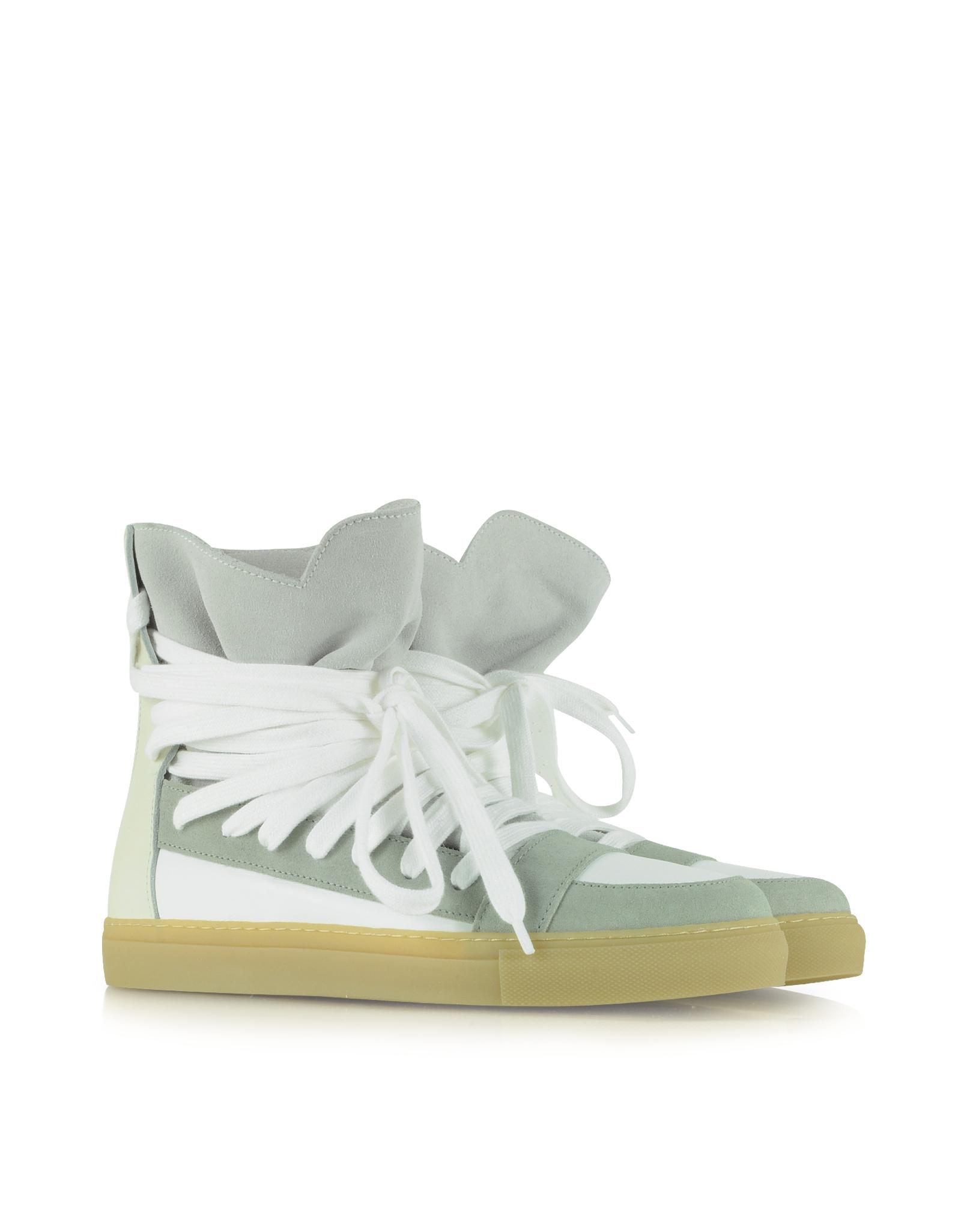209ca0f24b3fd3 Lyst - Kris Van Assche Off White Multilaces High Top Sneaker in ...