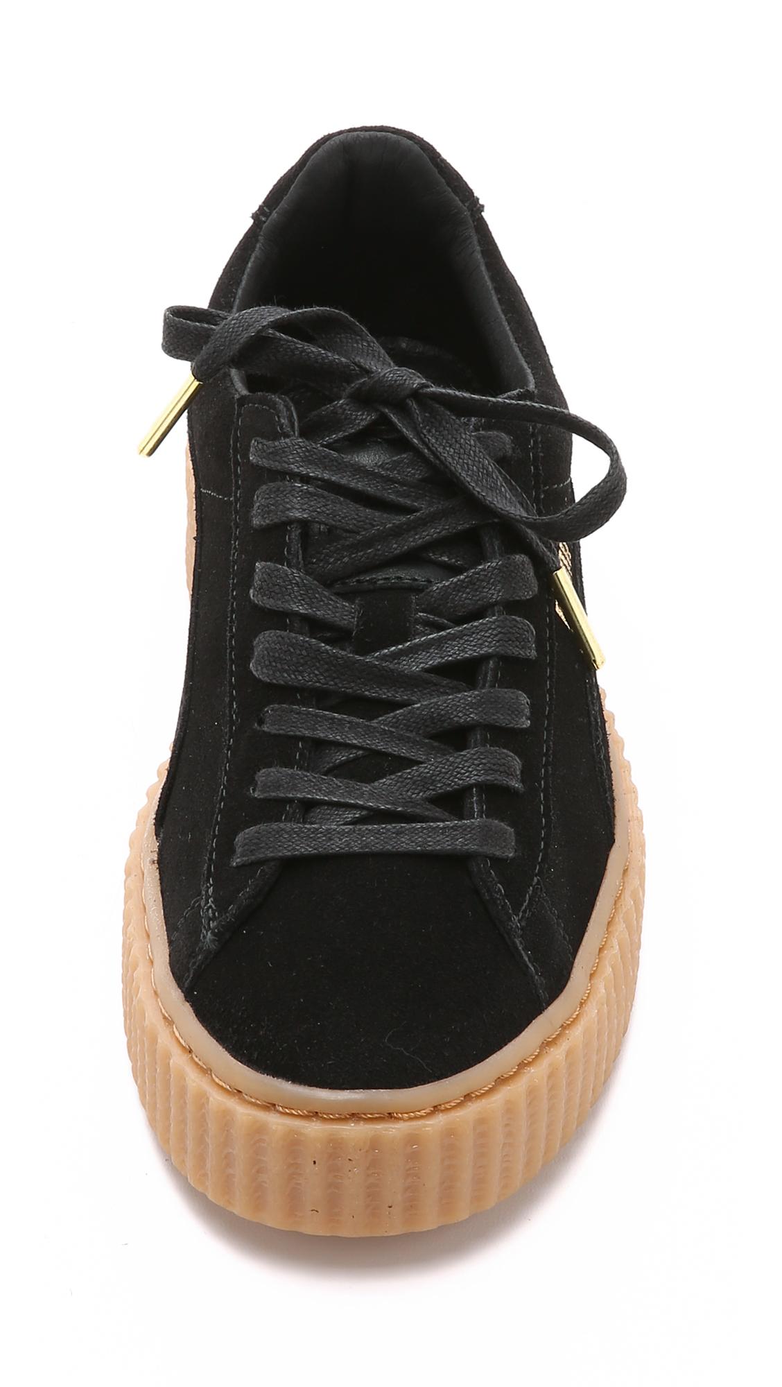 857df0517d0 Lyst - PUMA X Rihanna Creeper Sneakers - Black gum in Black