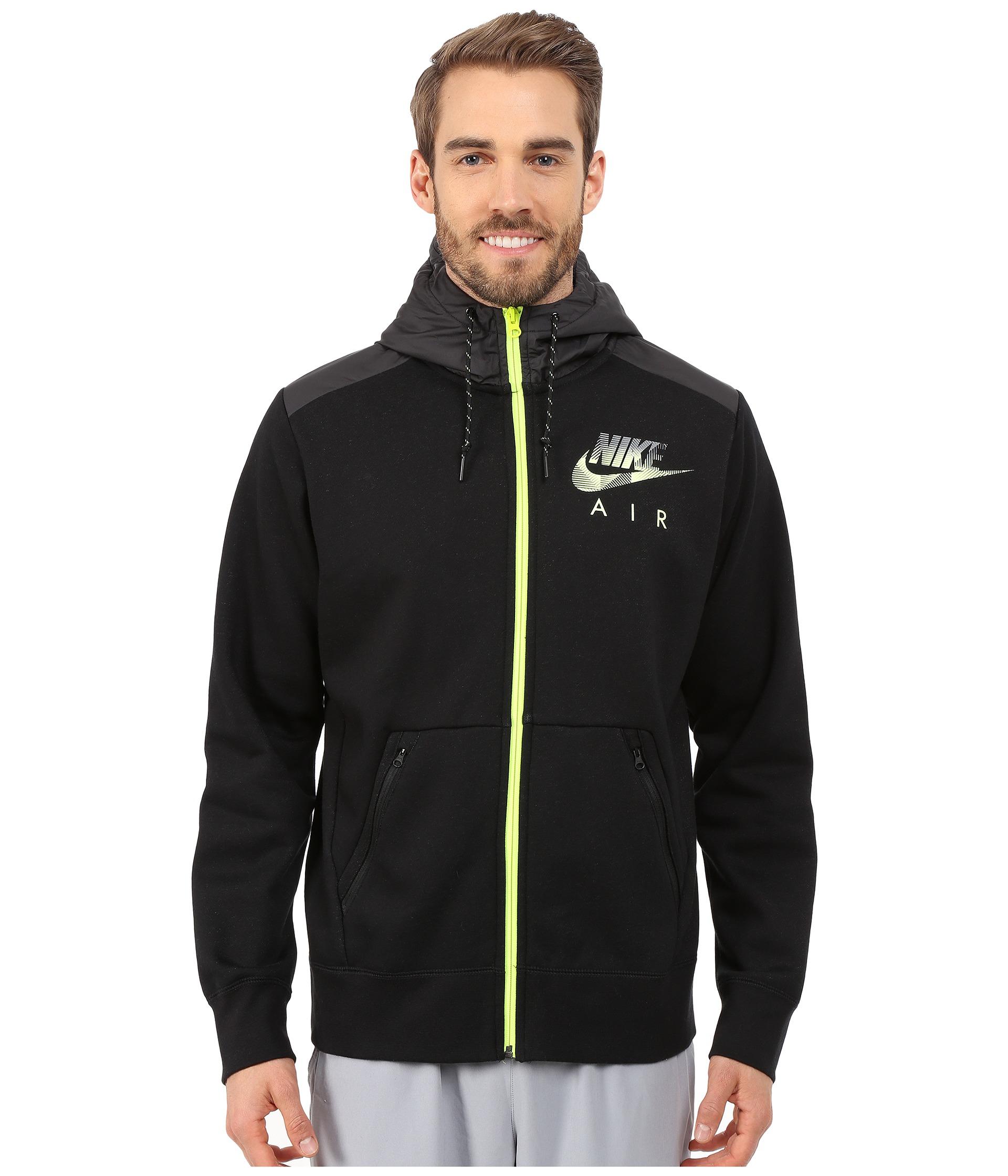 e29001d583 Lyst - Nike Aw77 Fleece Full-zip Hoodie Hybrid in Black for Men