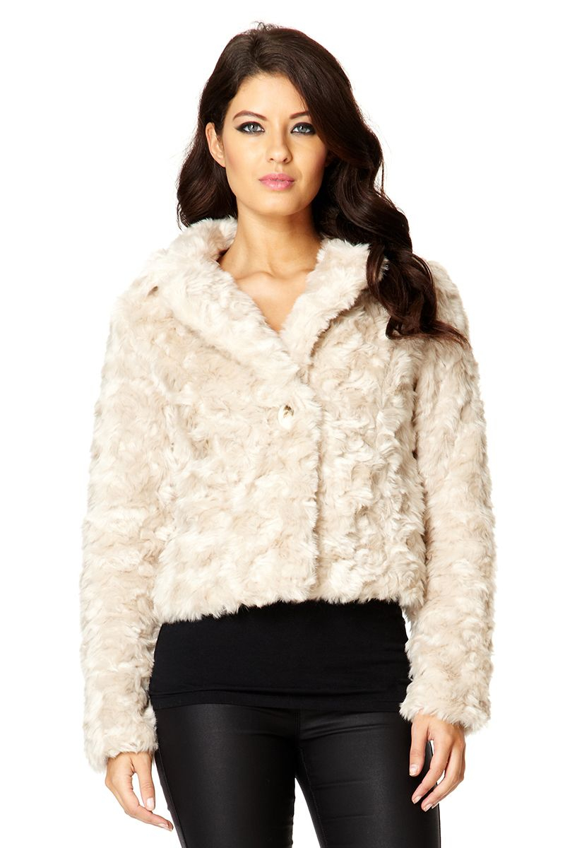 Short Fake Fur Coat - Tradingbasis
