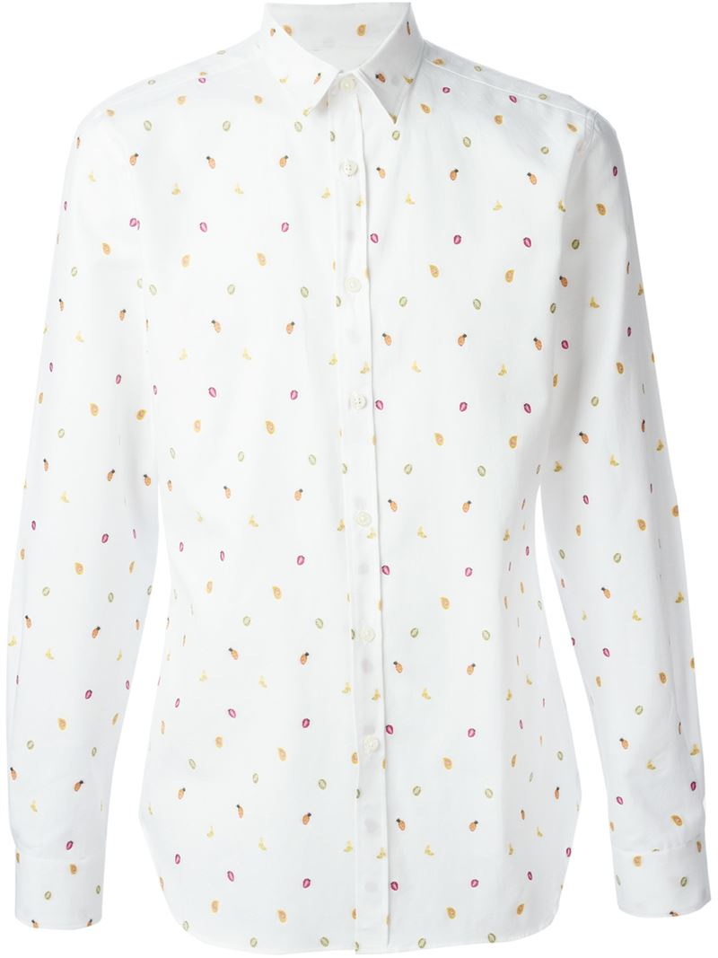 Shirts (12251111) 65JP - 8RE Ps By Paul Smith Men printed shirt