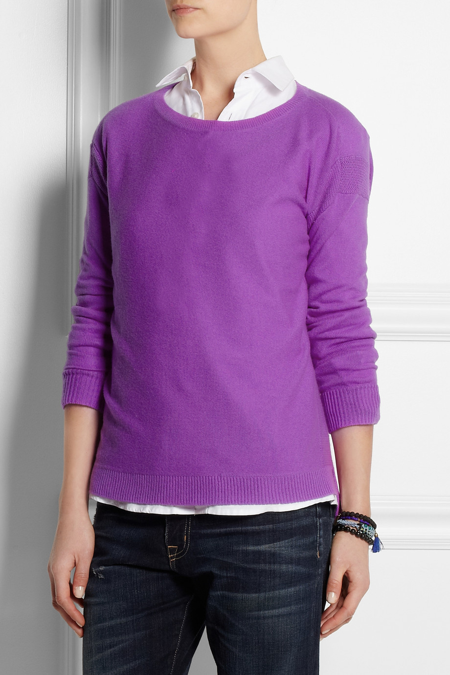 J.crew Cashmere Sweater in Purple | Lyst