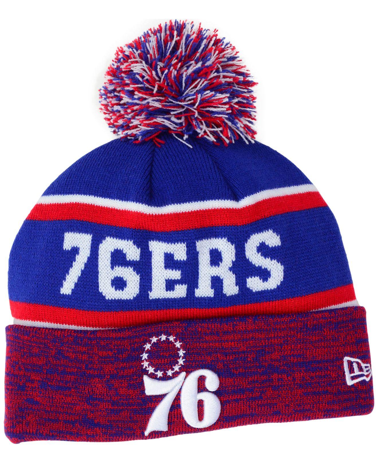 66bb432187d Lyst - Ktz Philadelphia 76ers Marled Cuff Knit Hat in Red for Men