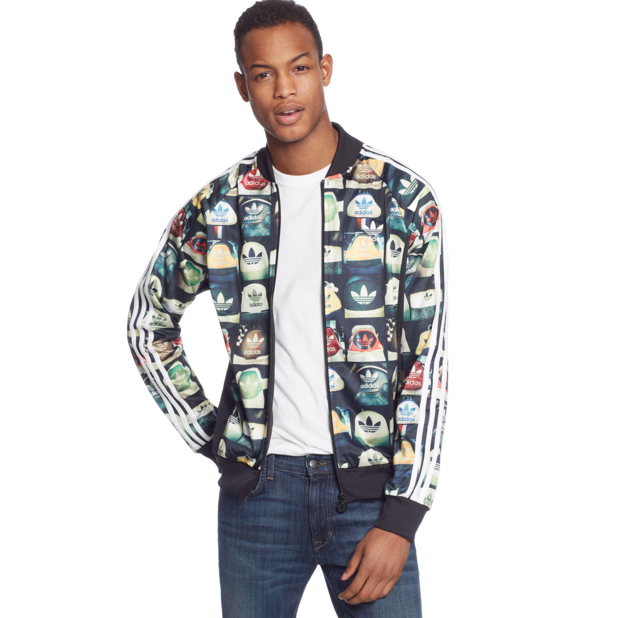 da60669924db Lyst - adidas Originals Allover Print Superstar Track Jacket in ...