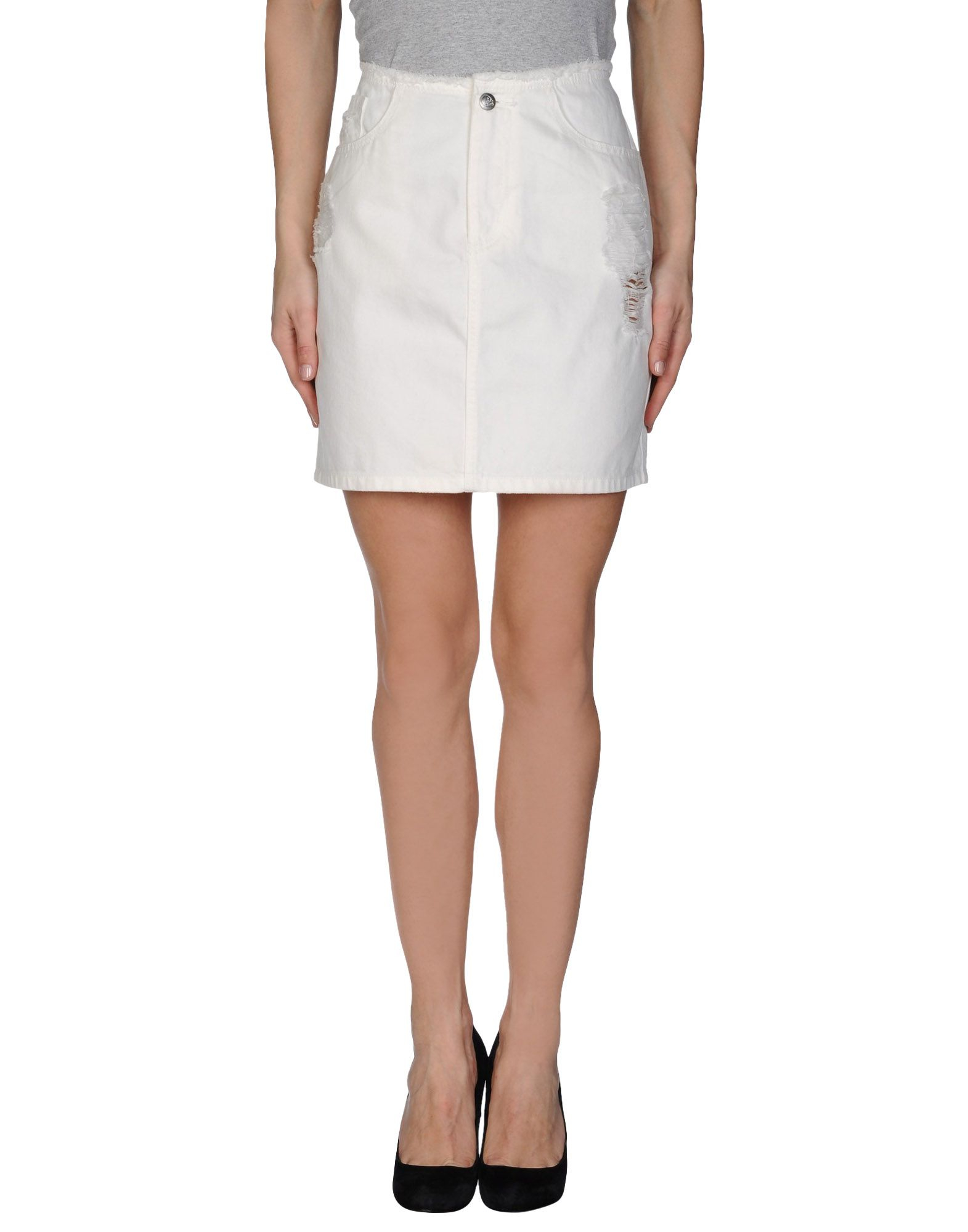 cheap monday denim skirt in white lyst