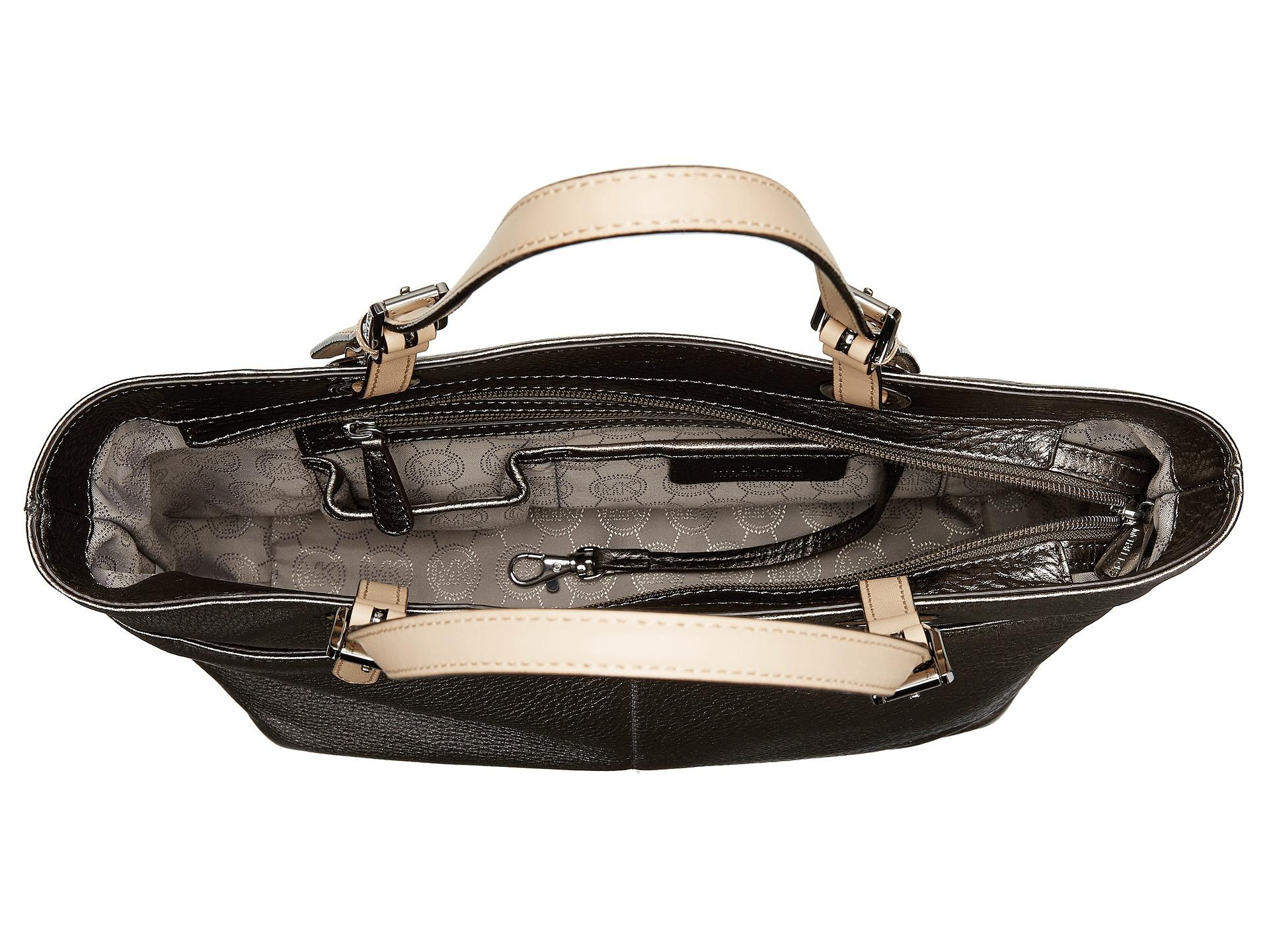 93ab6b285182ee MICHAEL Michael Kors Bedford Top Zip Pocket Tote in Metallic - Lyst