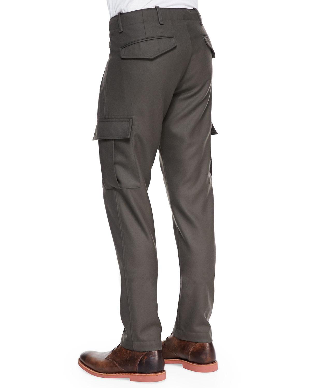 Lyst Moncler Wool Cargo Dress Pants In Green For Men