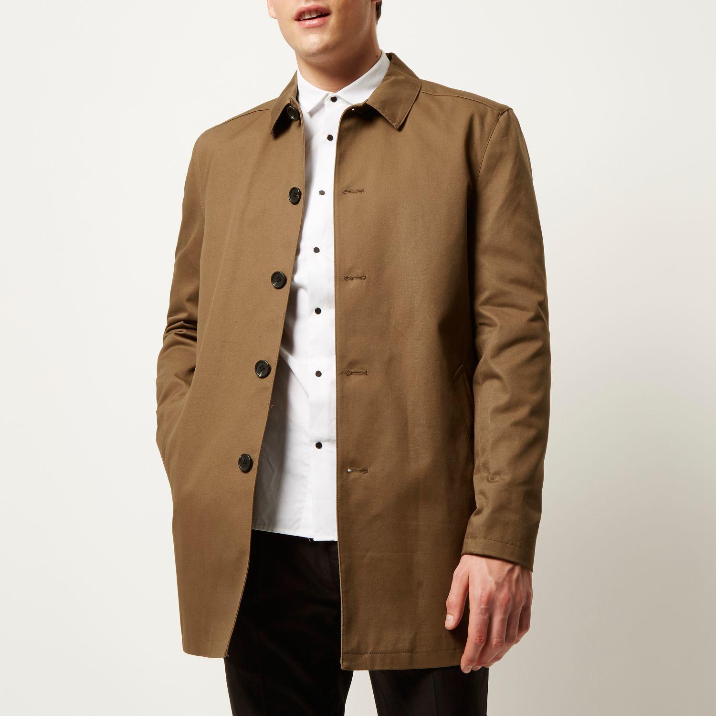 Brown Mac Coat | Down Coat