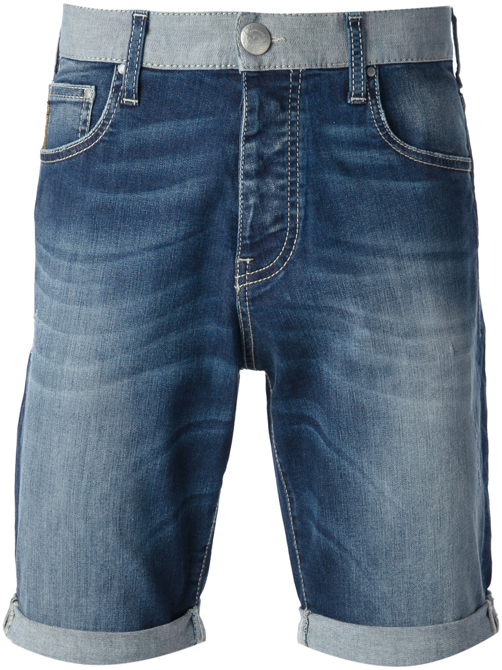Armani jeans Faded Denim Shorts in Blue for Men | Lyst