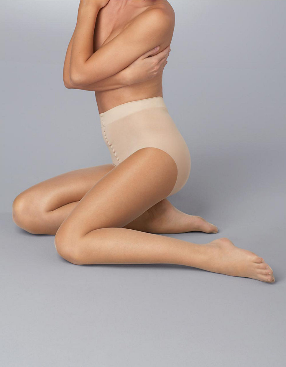 90baa36d9 Donna Karan Nude Control Top Sheer Hosiery in Natural - Lyst