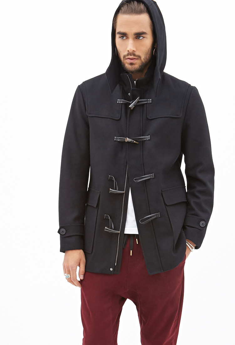 Forever 21 Classic Toggle Coat in Black for Men | Lyst