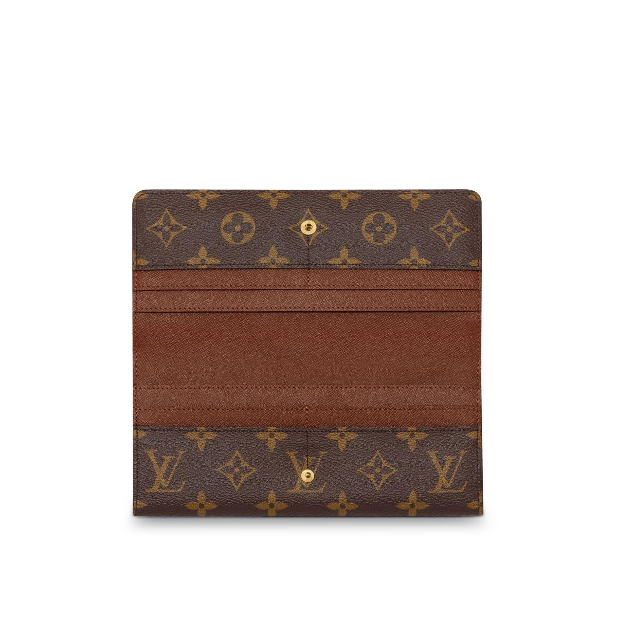 louis vuitton louise wallet in brown lyst