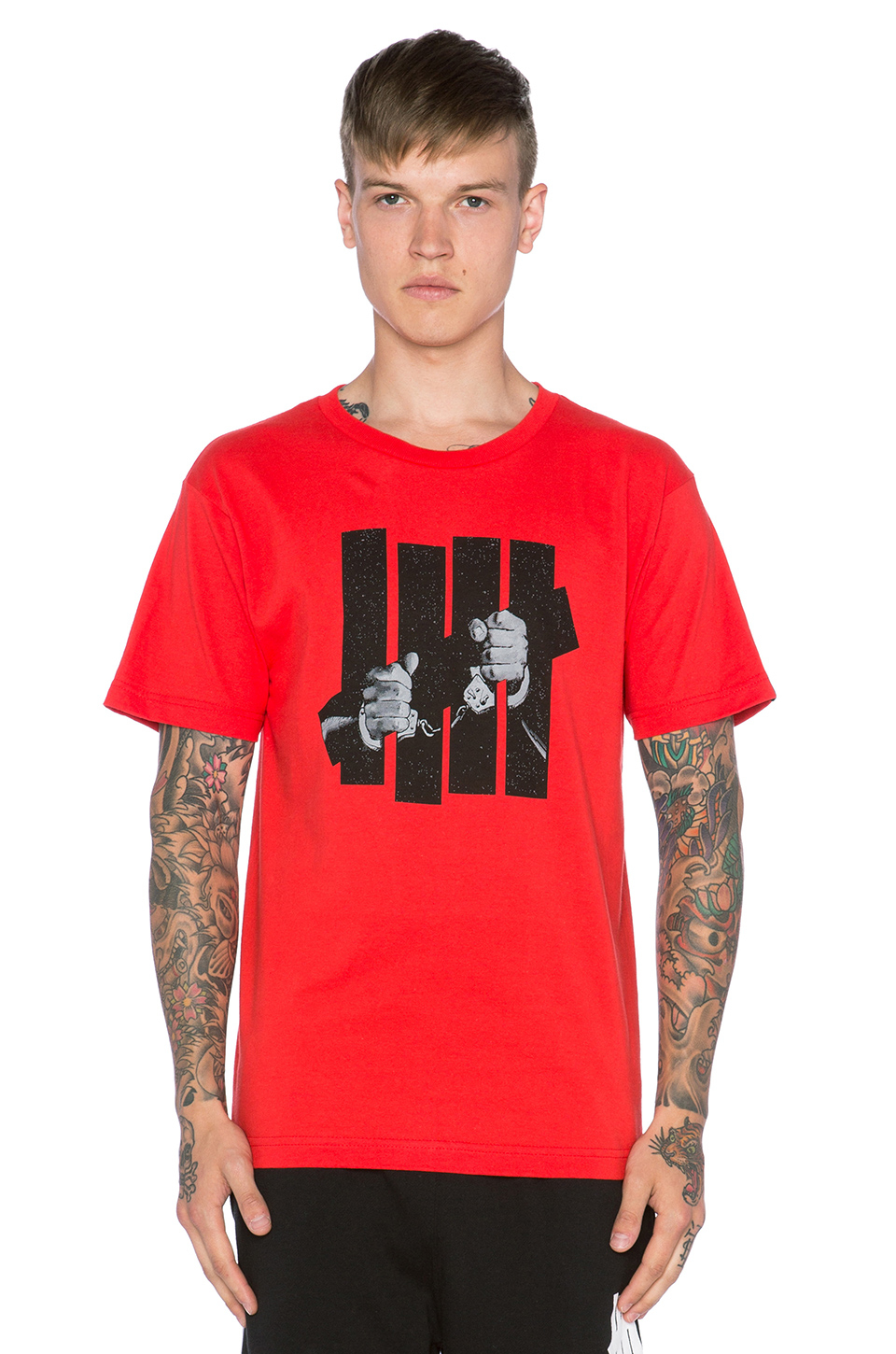 Undefeated Captive Tee in Red for Men
