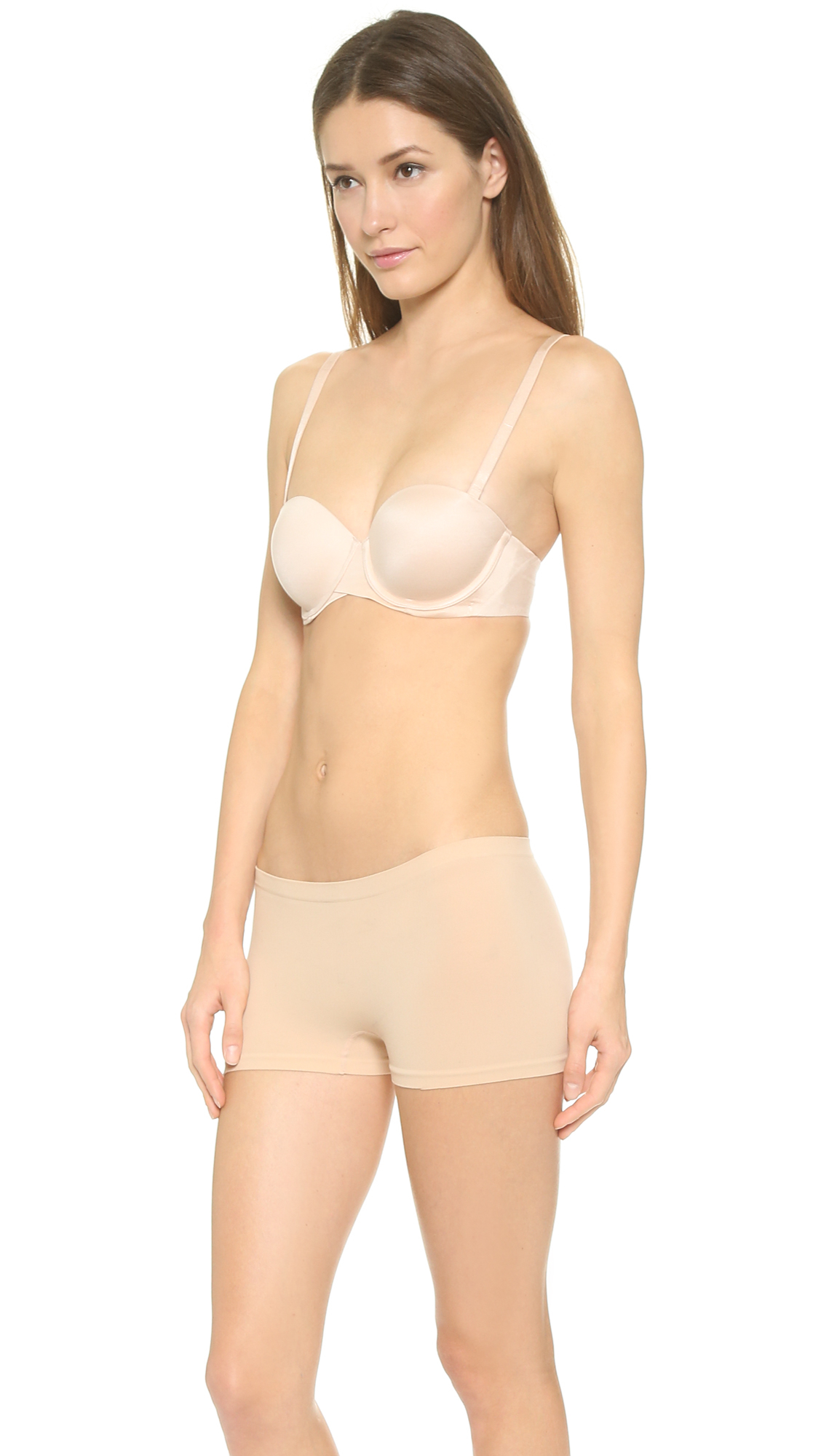 2e5c11a964671 Lyst - Spanx Pillow Cup Signature Strapless Bra - Black in Natural