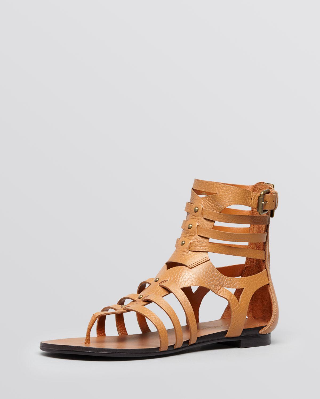 547f09ec688 Lyst - Enzo Angiolini Flat Gladiator Sandals Makalya in Brown