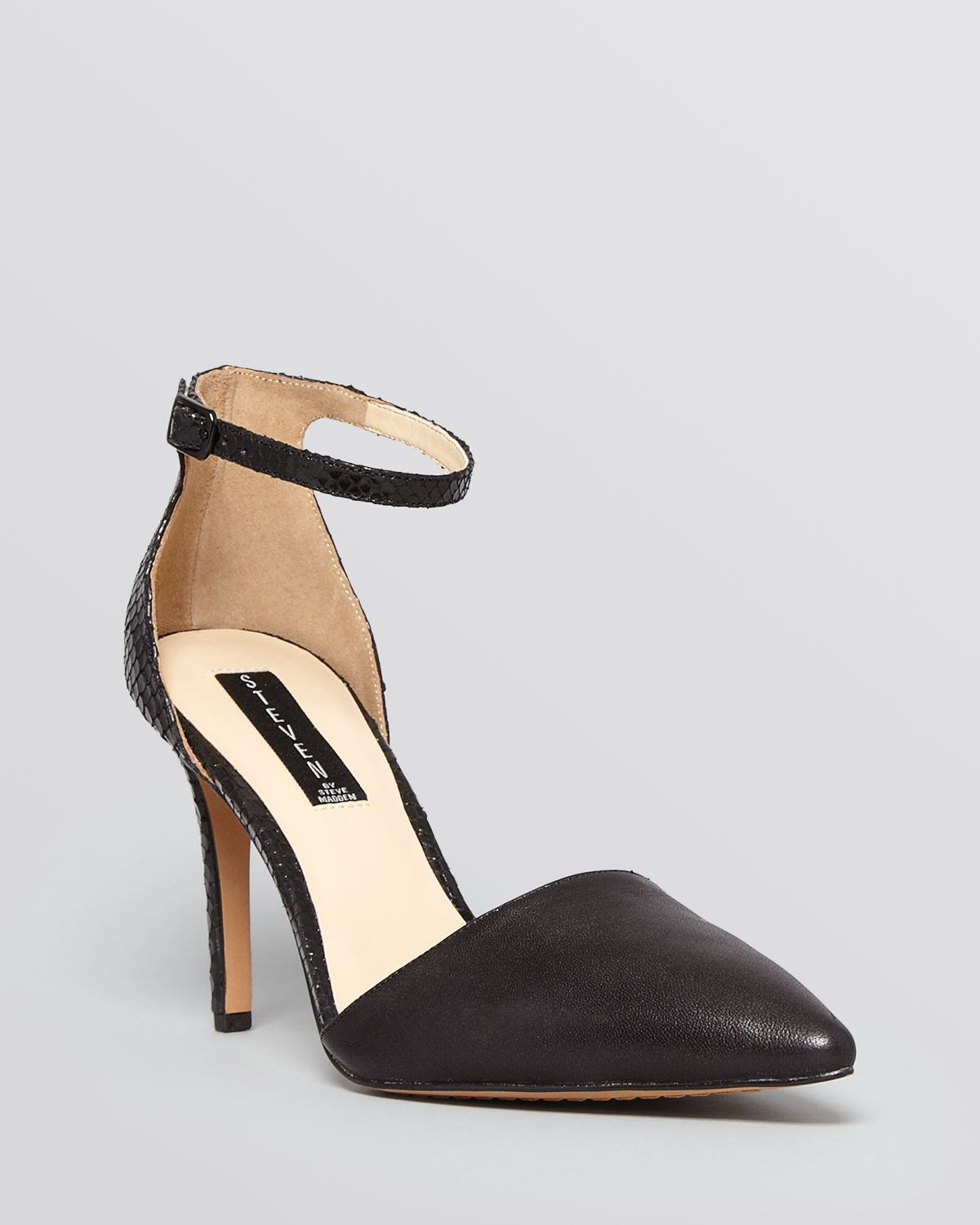 Lyst - Steven by Steve Madden Pointed Toe Ankle Strap D orsay Pumps ...