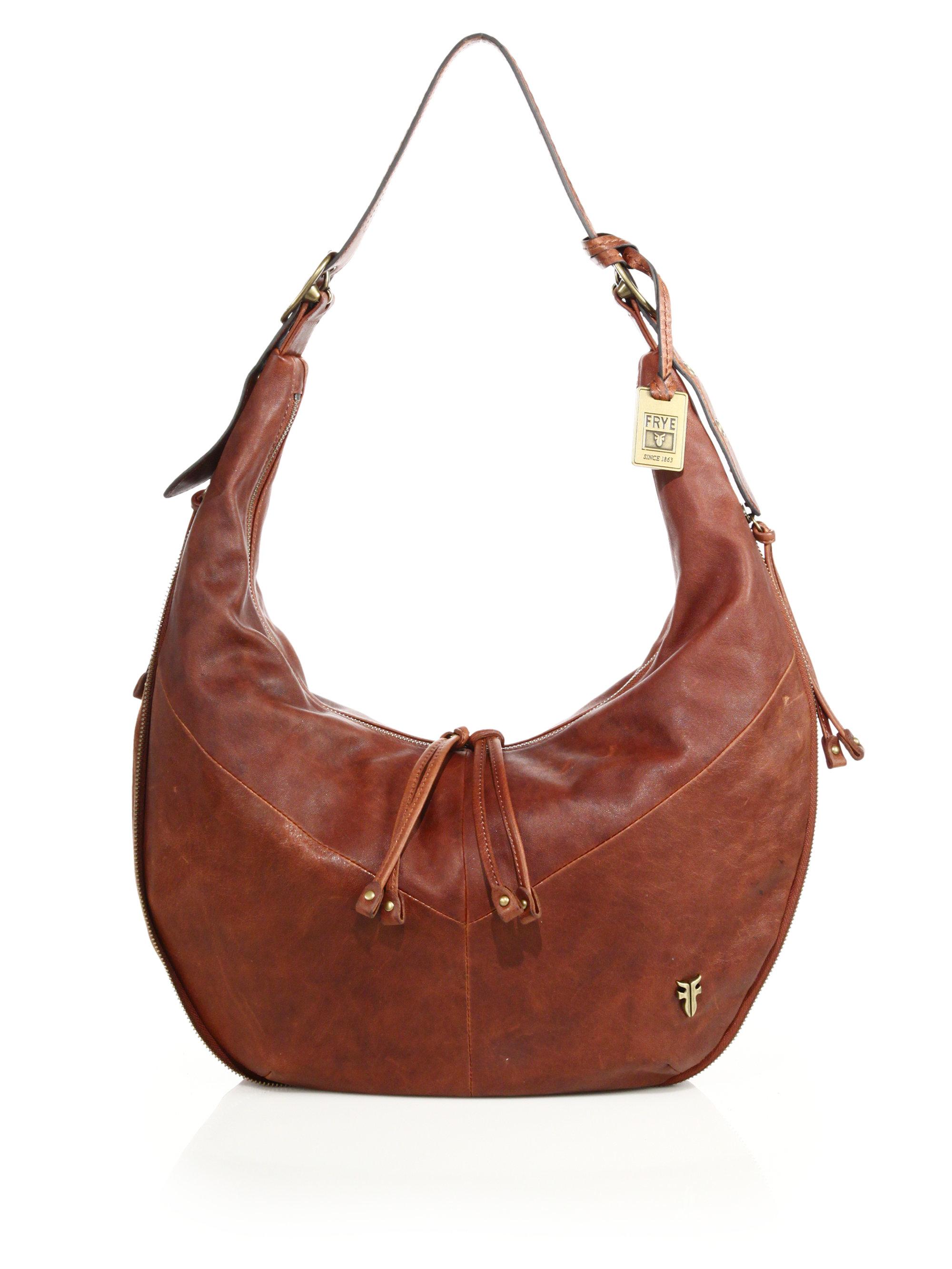7c69fd49f2 Lyst - Frye Belle Bohemian Leather Hobo Bag in Brown