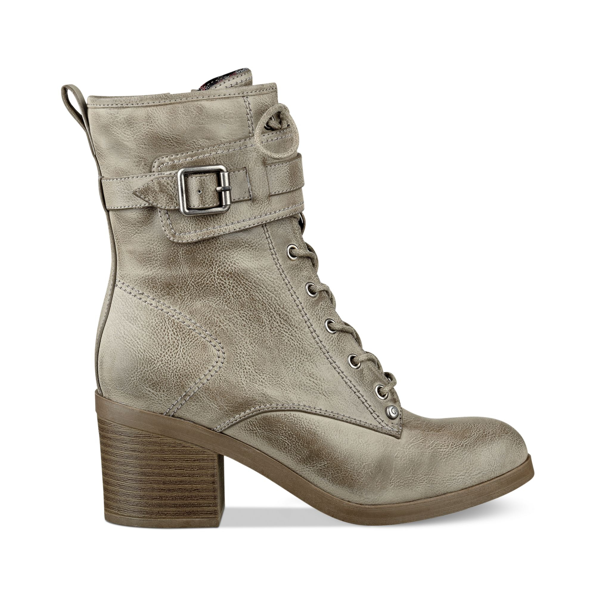 G By Guess Women'S Apex Combat Booties in Gray (Taupe) | Lyst