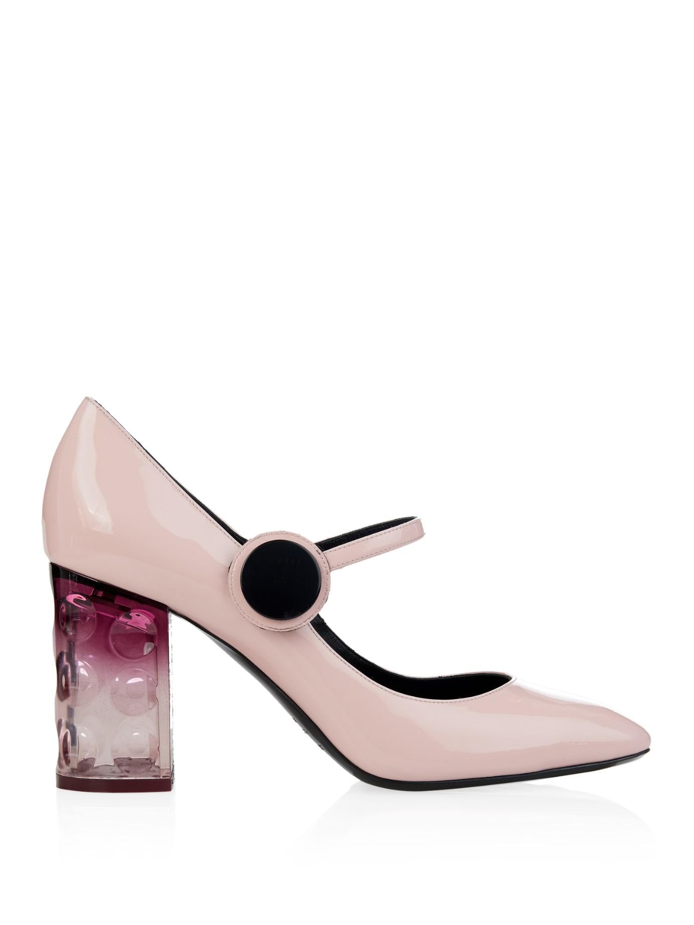95345727198f Lyst - Nicholas Kirkwood Carnaby Patent-Leather Block-Heel Pumps in Pink