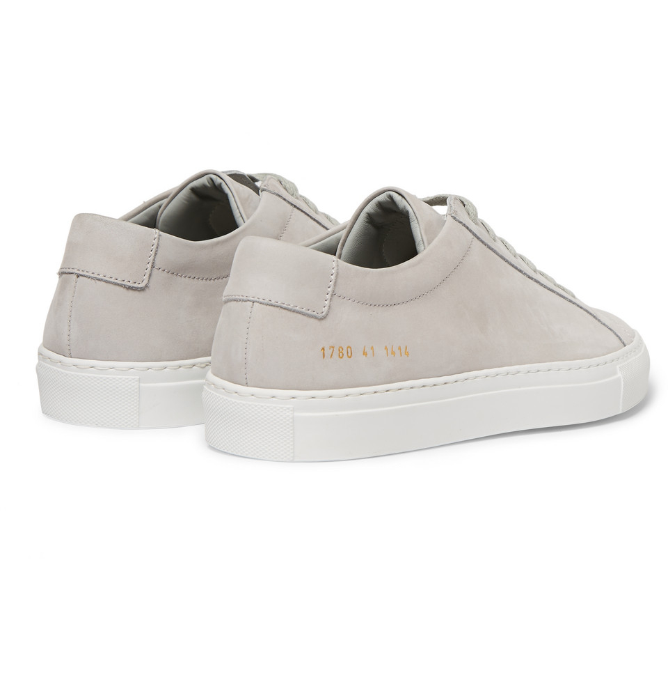 common projects achilles nubuck low top sneakers in white for men lyst. Black Bedroom Furniture Sets. Home Design Ideas
