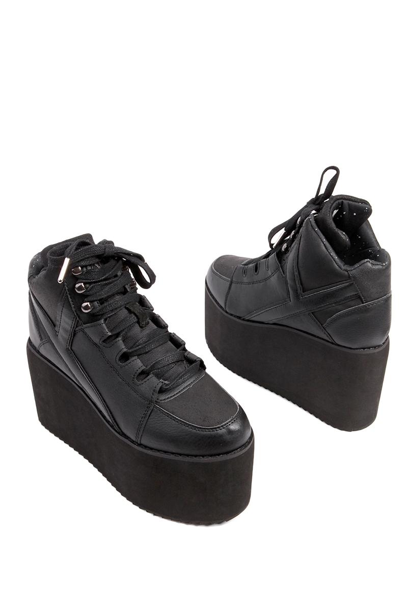 78334c3dead Lyst - YRU Qozmo Black High Platform Sneakers in Black