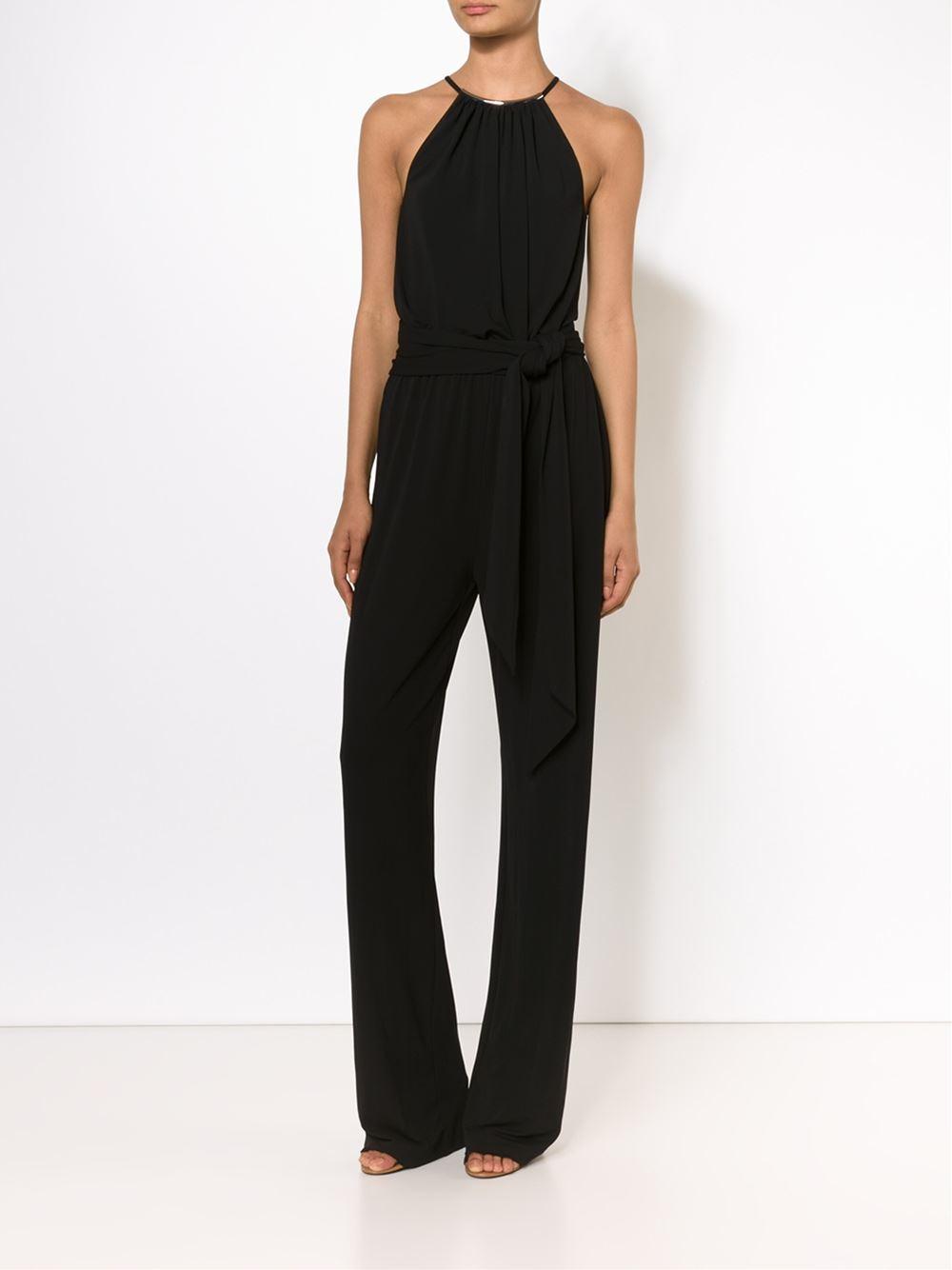 michael kors sleeveless jumpsuit in black lyst. Black Bedroom Furniture Sets. Home Design Ideas