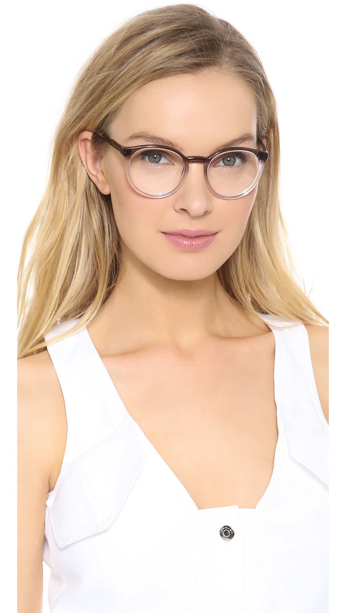 Lyst Stella Mccartney Gradient Frame Glasses Brown Fade