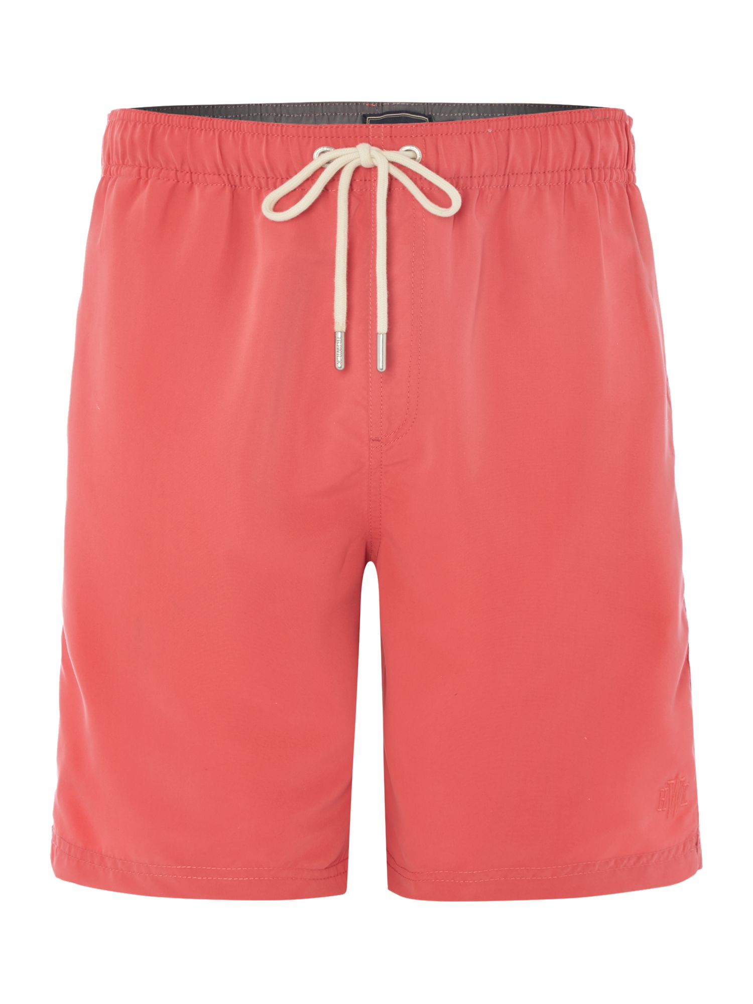 men's swim These shorts fit true to size but are slightly more fitted than TABS Bermuda Shorts. If in doubt go bigger, there is a hidden draw string to adjust the waist.