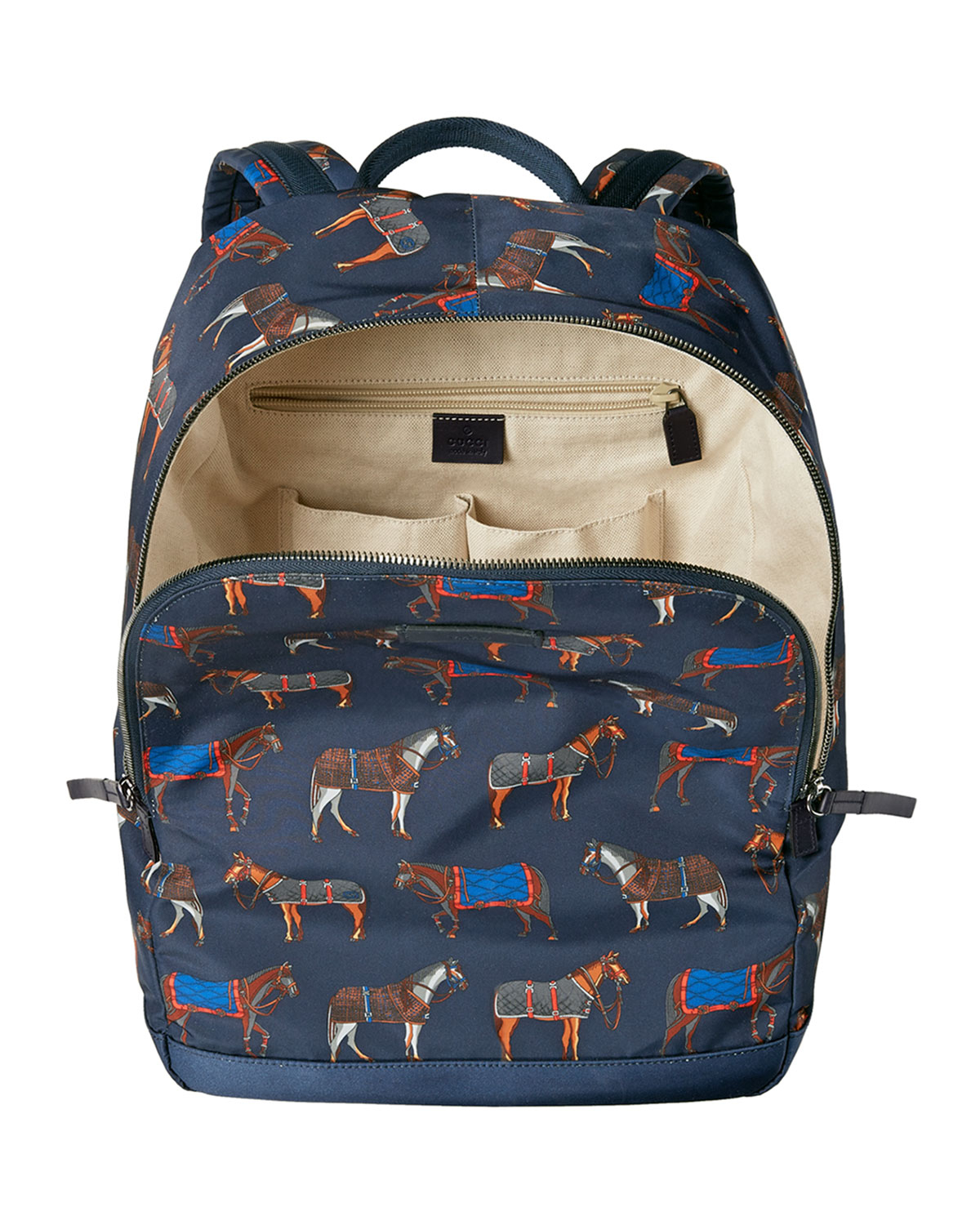 Gucci Horse-print Backpack in Blue for Men - Lyst 8b293c2db0