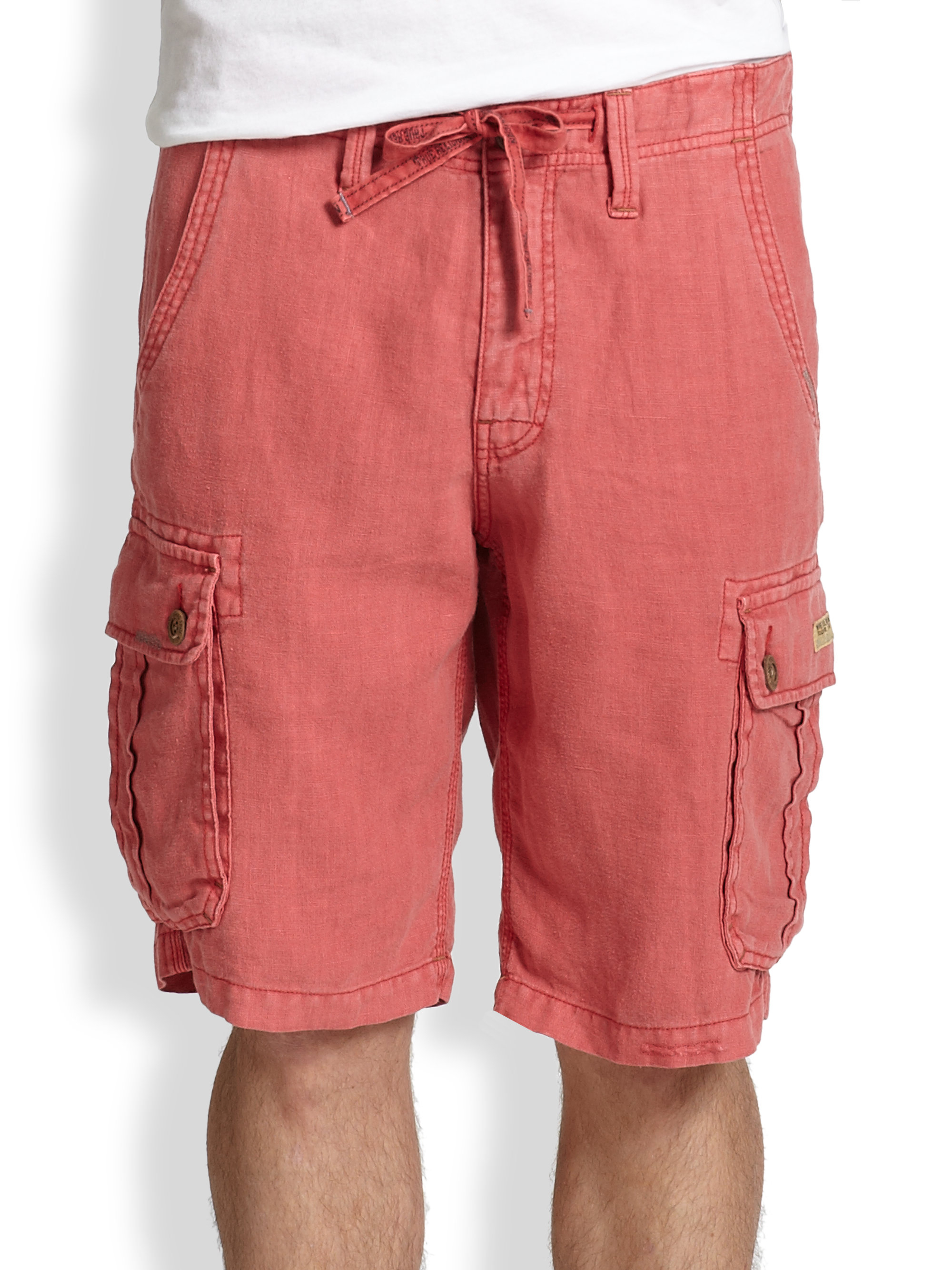 c4dfe57c88 True Religion Recon Cargo Shorts in Pink for Men - Lyst