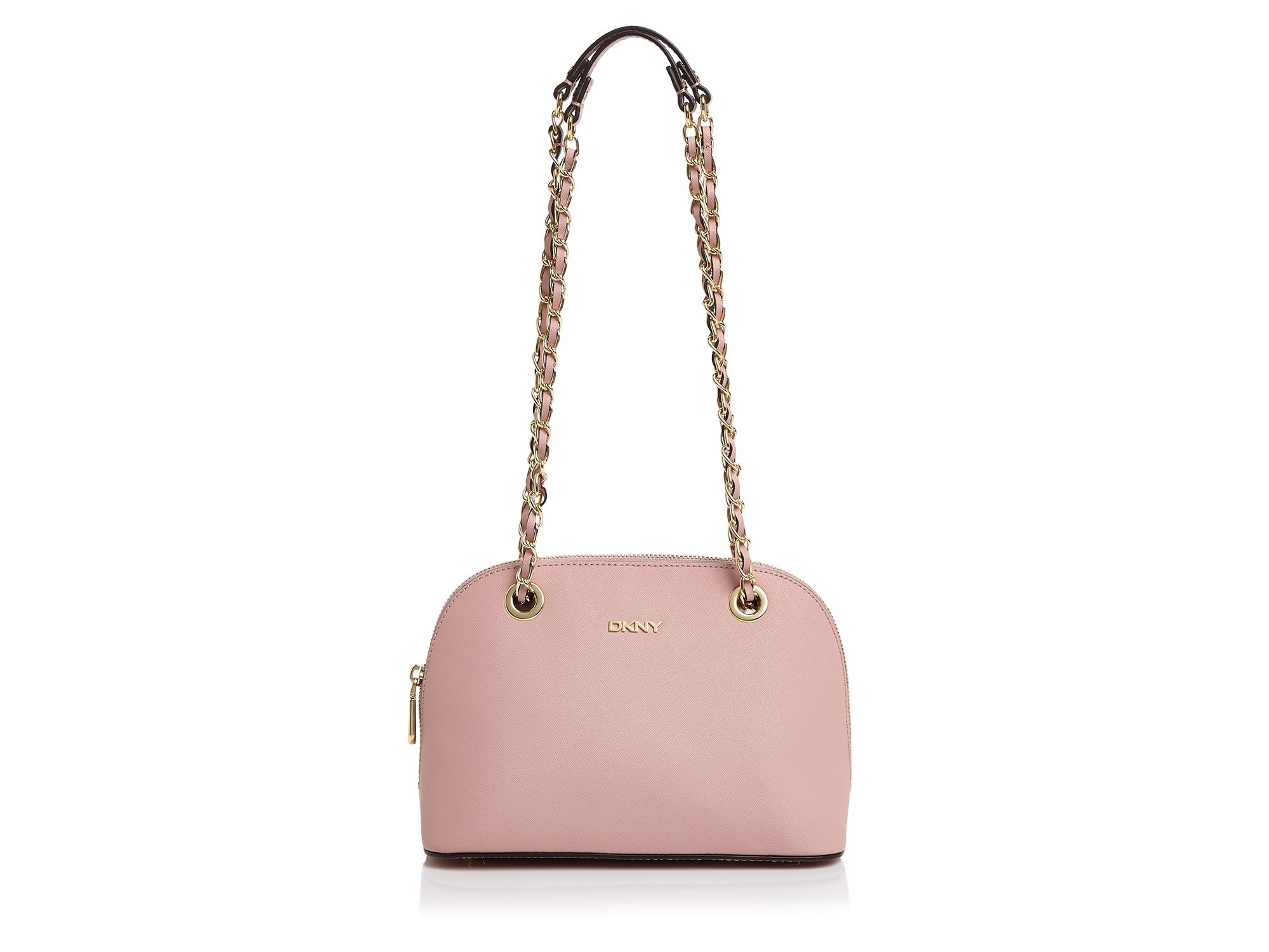 Dkny Bryant Park Saffiano Small Round Crossbody in Pink | Lyst