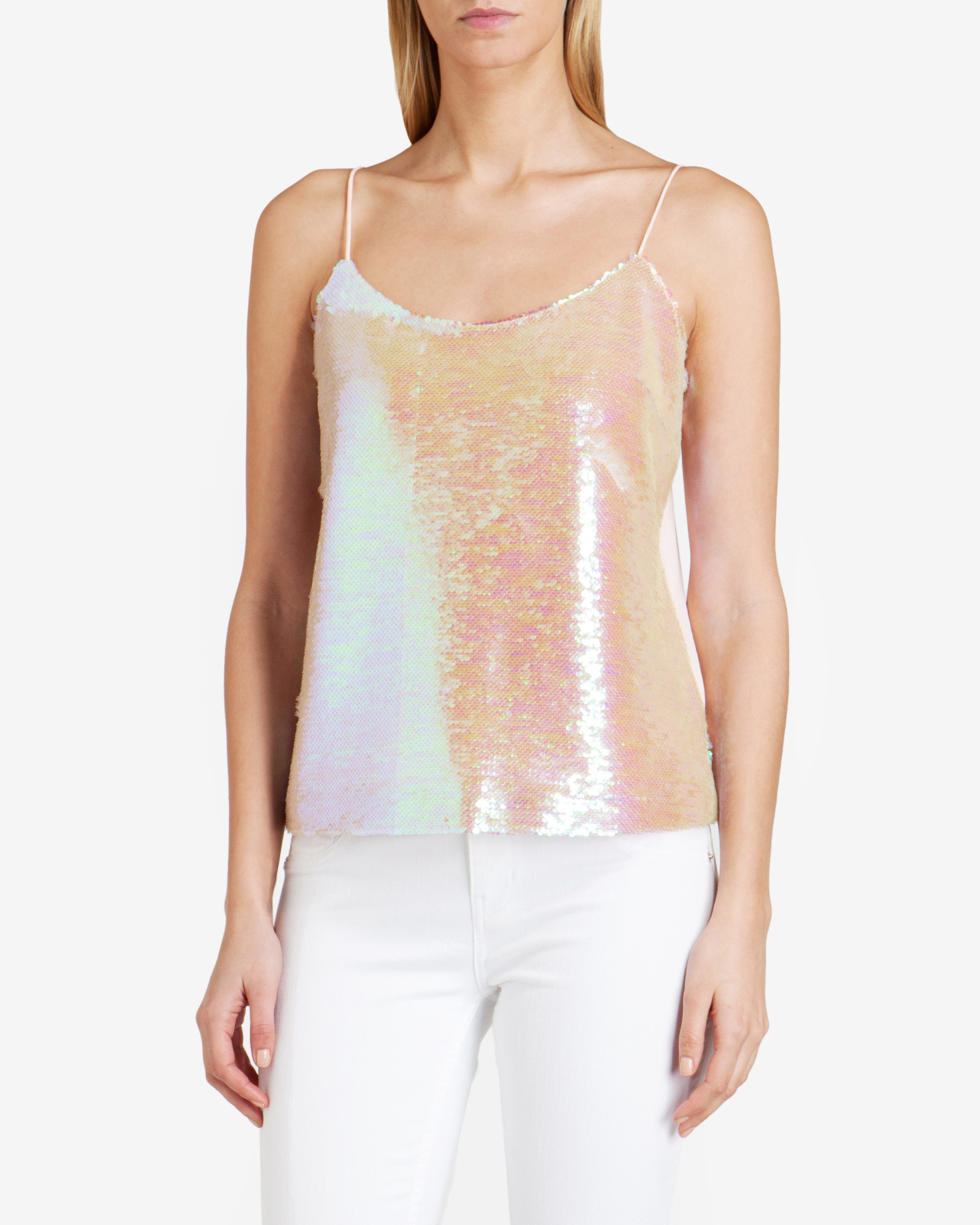 dc34b632be1a1 Ted Baker Sequin Cami Top in Pink - Lyst