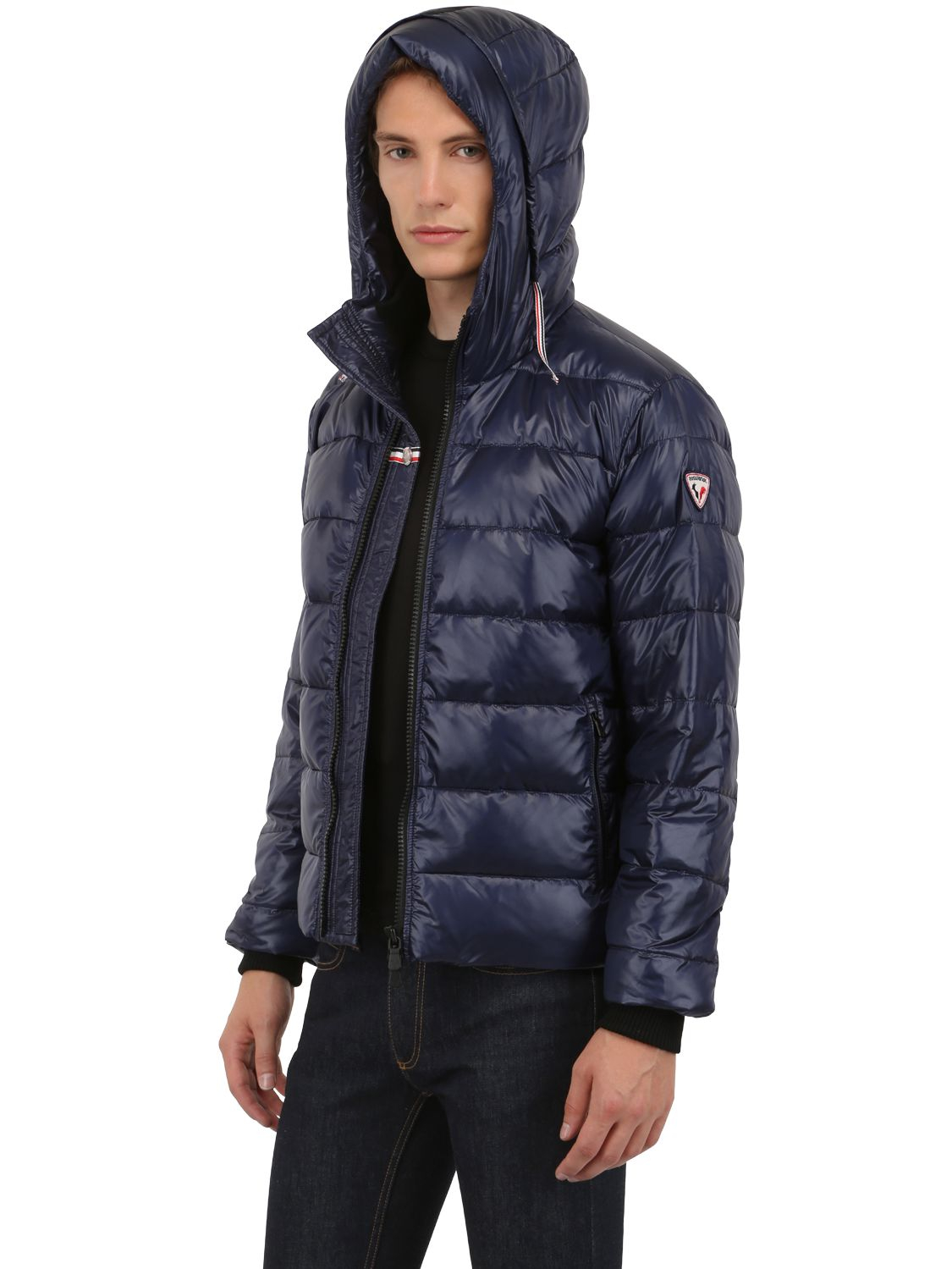 Lyst Rossignol Shiny Nylon Cesar Down Jacket In Blue For Men