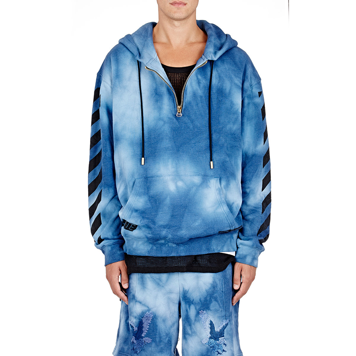 lyst off white c o virgil abloh men 39 s tie dyed hoodie in. Black Bedroom Furniture Sets. Home Design Ideas