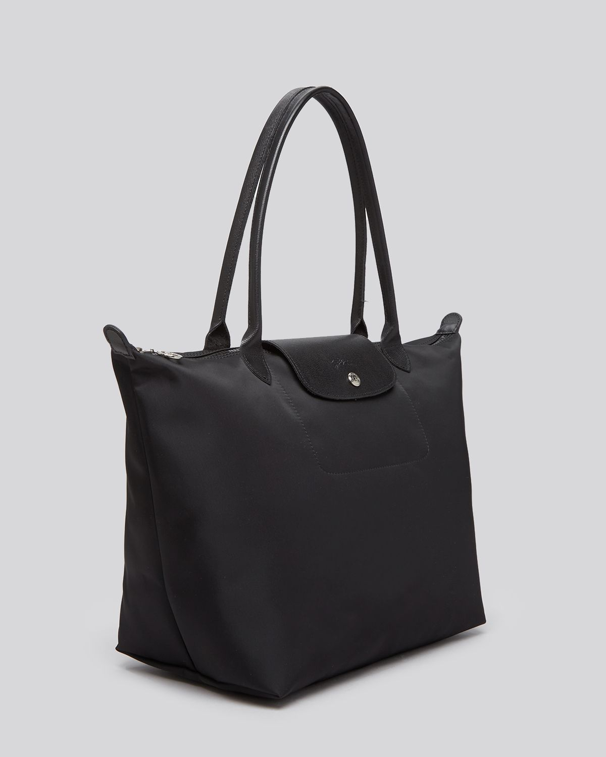 lyst longchamp tote le pliage neo large in black. Black Bedroom Furniture Sets. Home Design Ideas