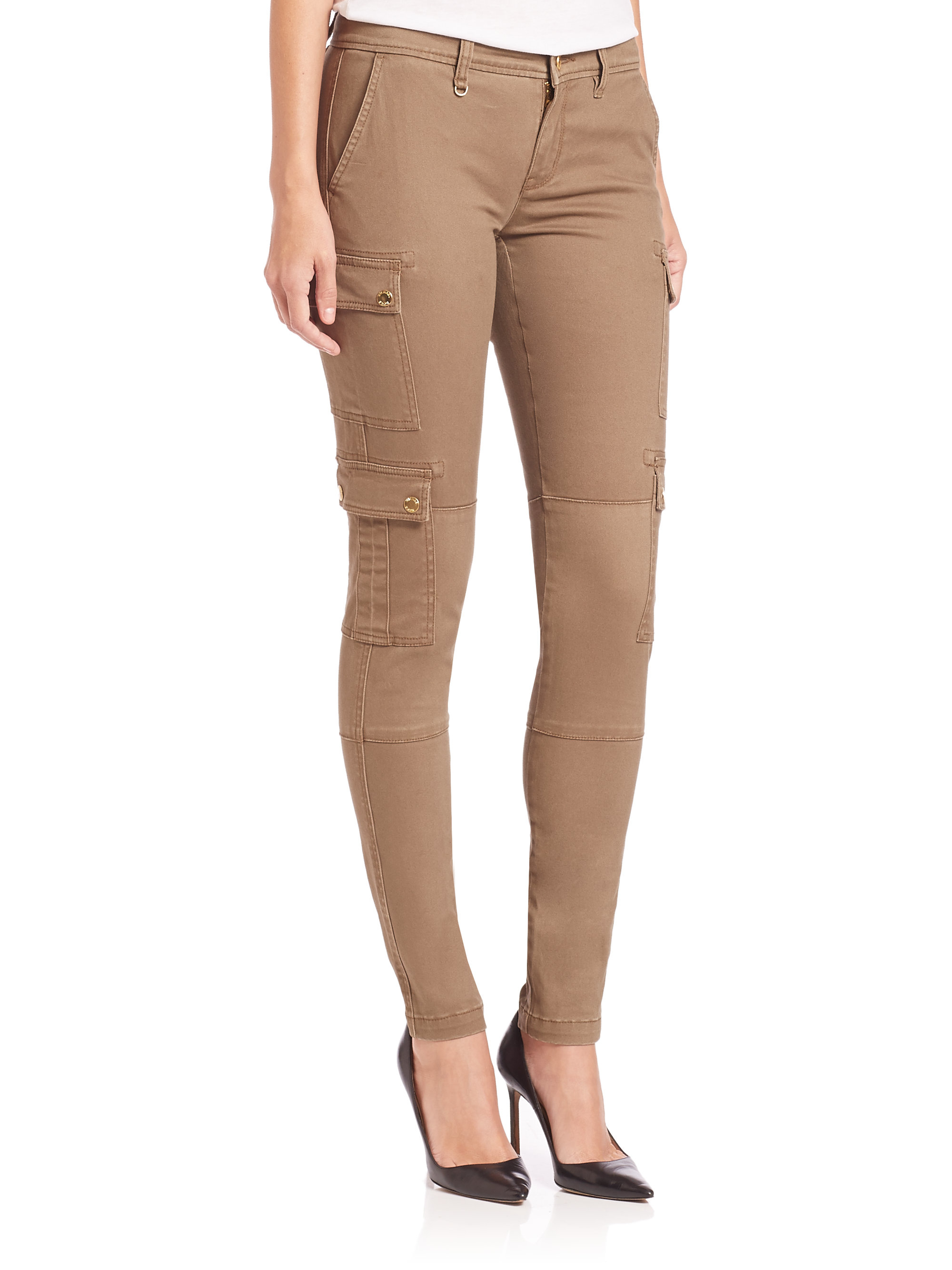 Michael michael kors Safari Cargo Pants in Natural | Lyst