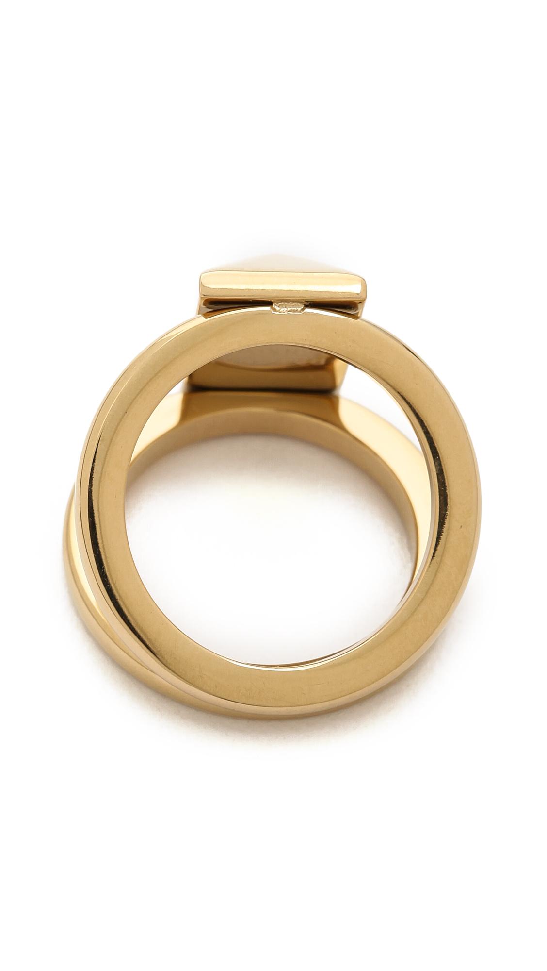 Rebecca Minkoff Pave Claw Ring in Metallic Copper fsIiJcIC